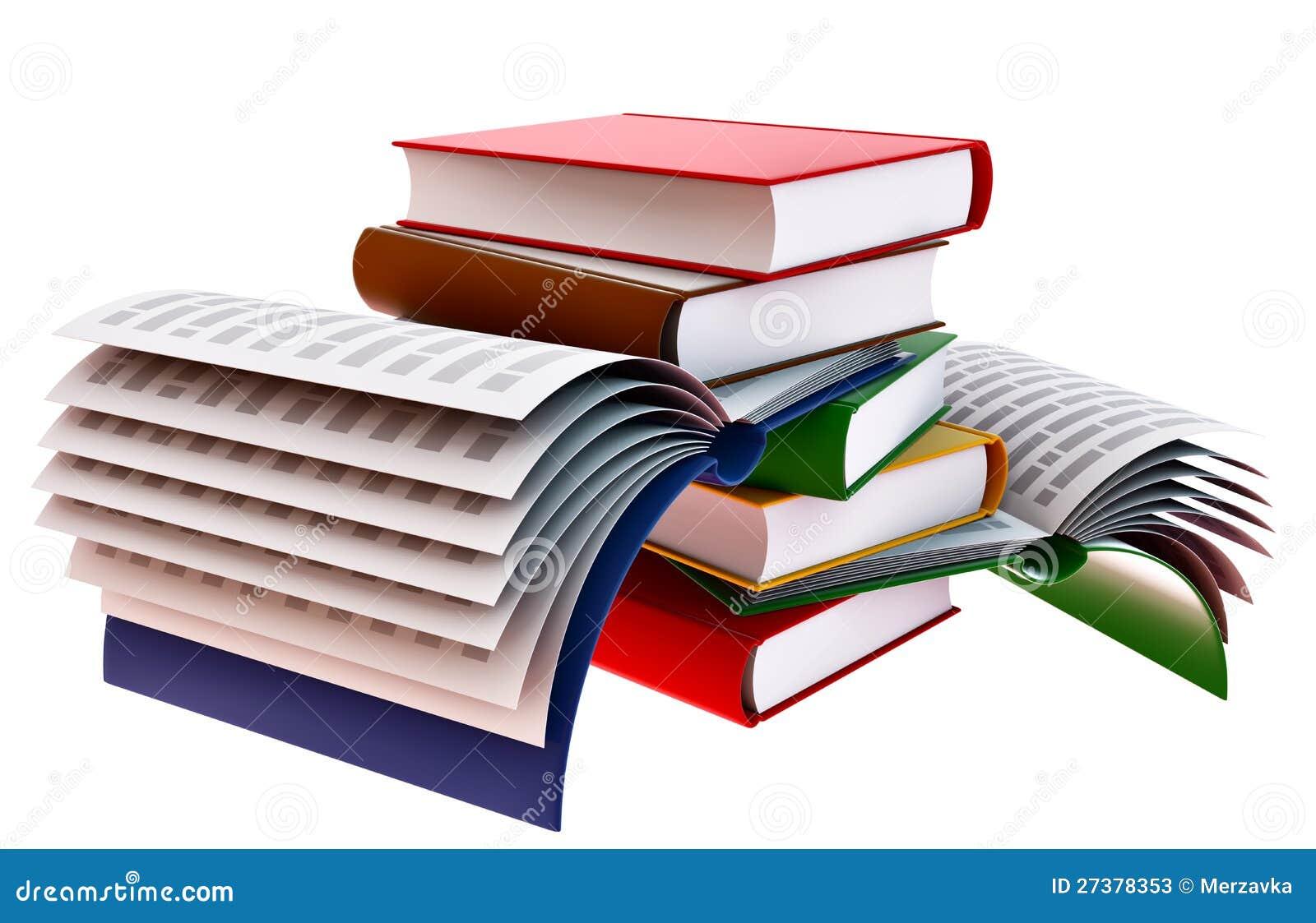 Conjunto de libros stock de ilustraci n imagen de copia - Imagenes de librerias ...