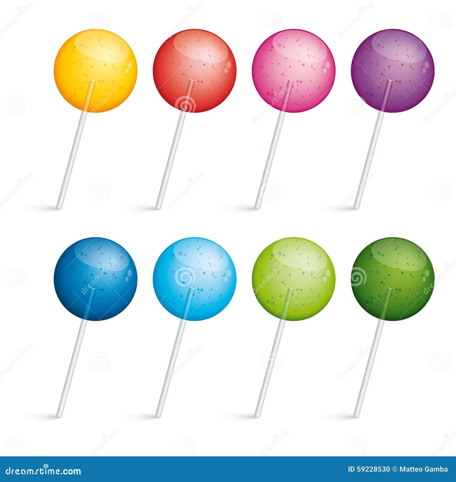 Download Conjunto De Lollipops Coloridos Ilustración del Vector - Ilustración de juego, brillante: 59228530