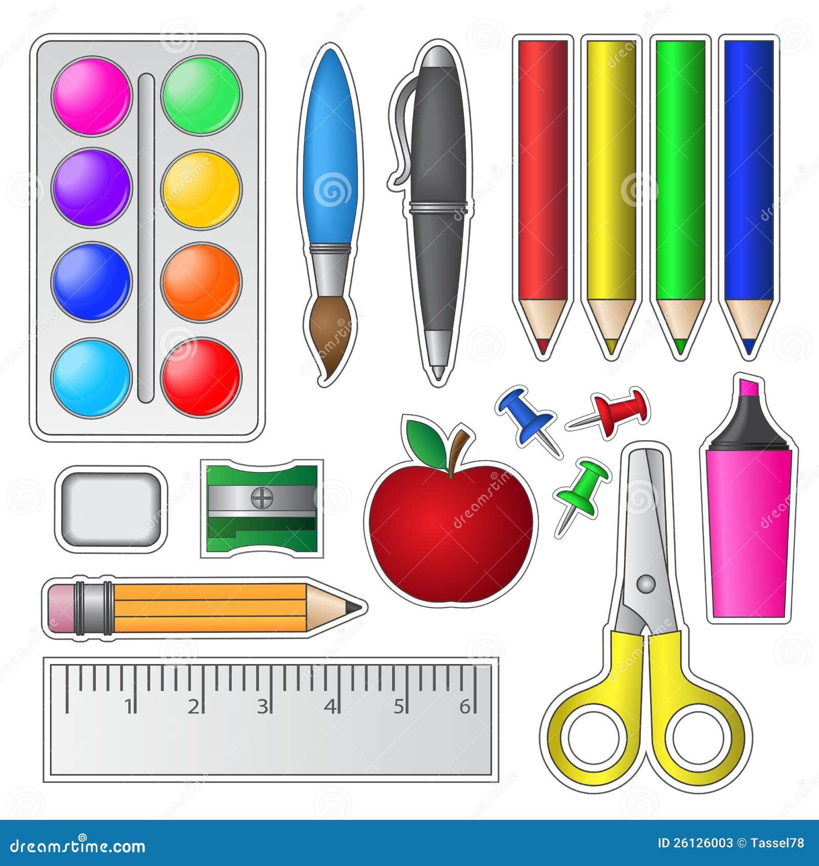 conjunto de materiales consumibles y de herramientas de la On mosaiquismo herramientas y materiales