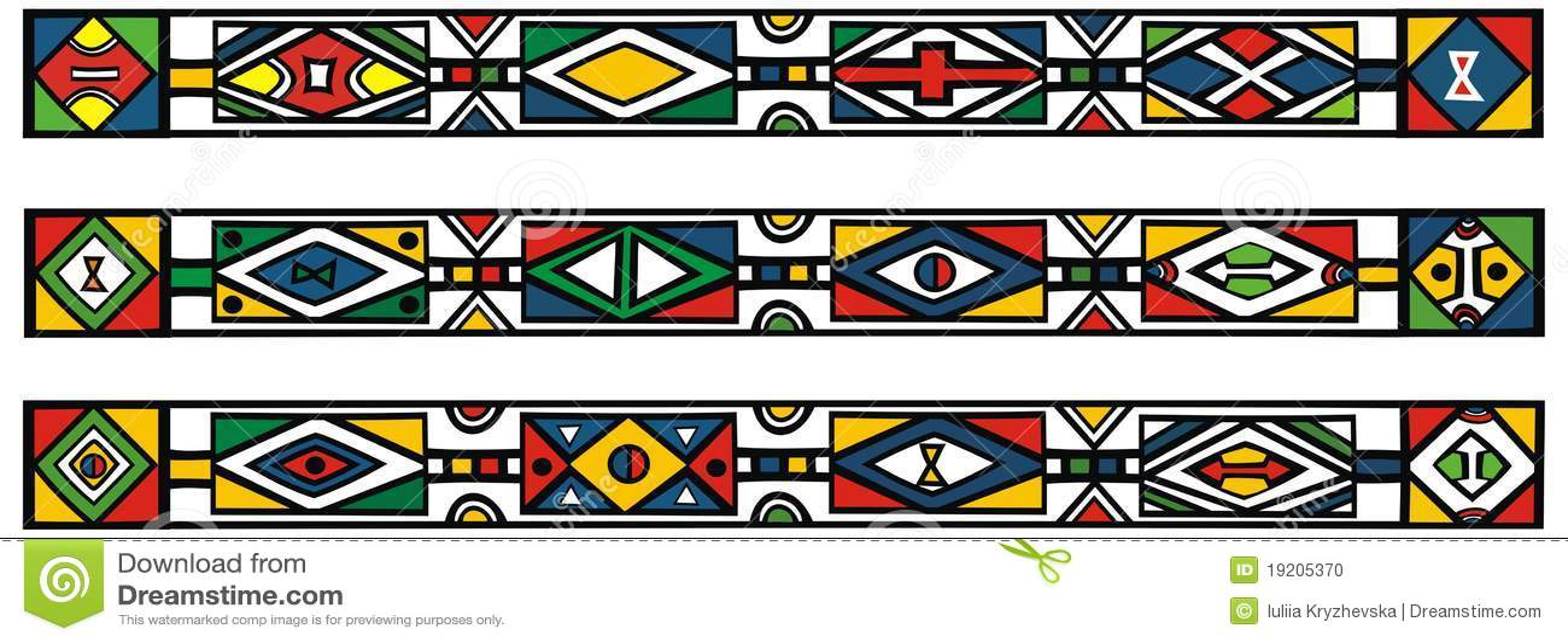 Conjunto de modelos africanos tradicionales del ndebele