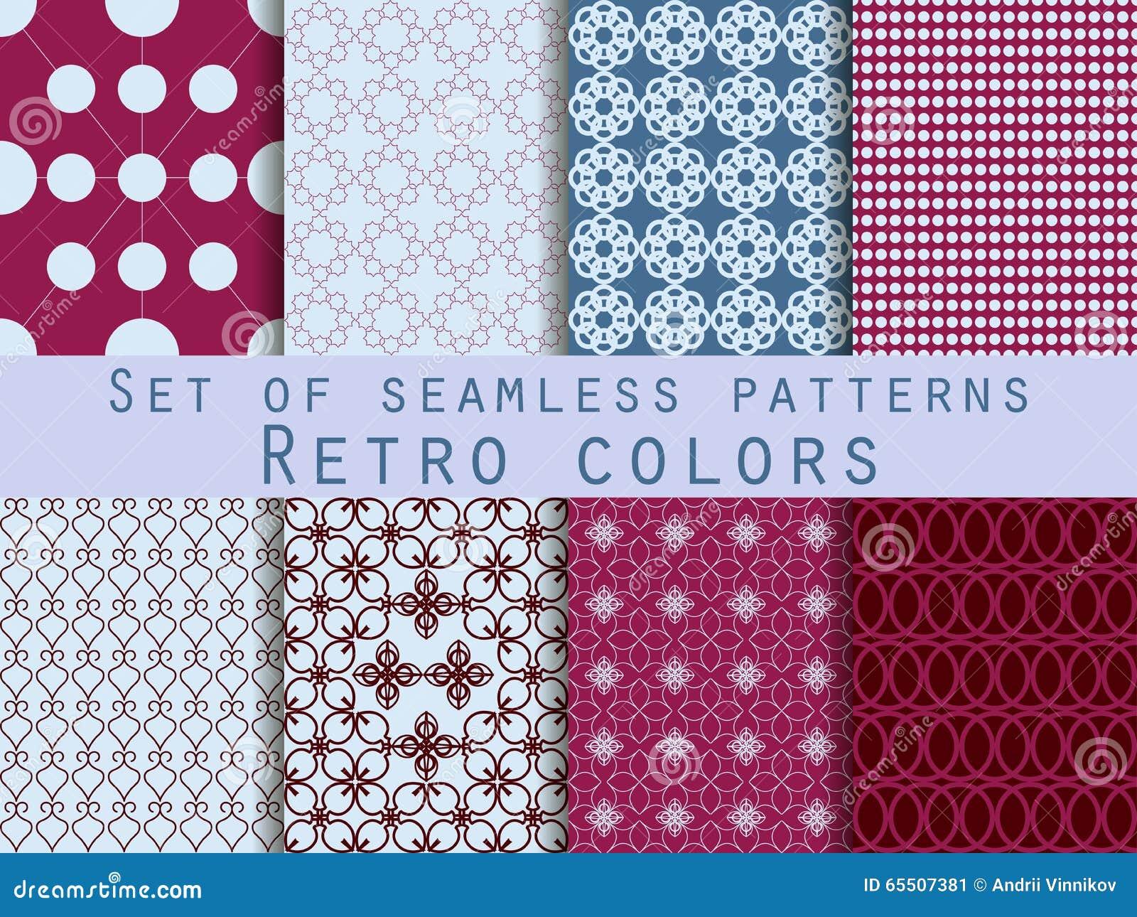 Conjunto de modelos inconsútiles modelo inconsútil geométrico Los diseños para las materias textiles y el interior