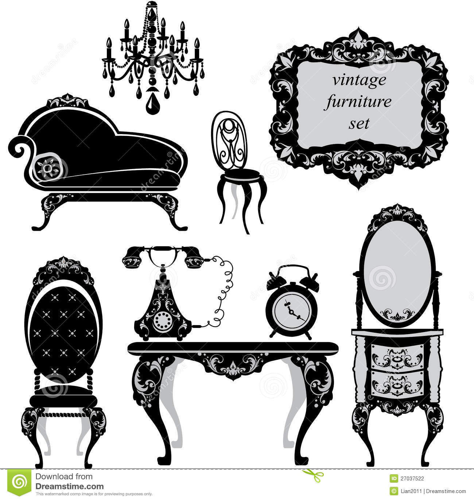Conjunto de muebles antiguos foto de archivo imagen 27037522 - Herrajes muebles antiguos ...