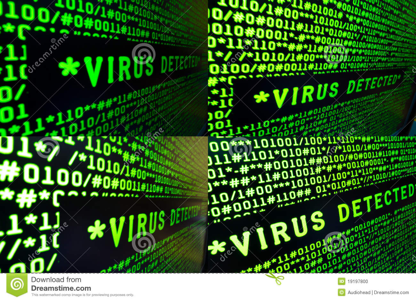 Conjunto de muestras detectadas virus