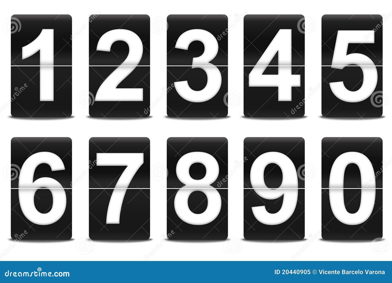 Conjunto de números negros del tirón