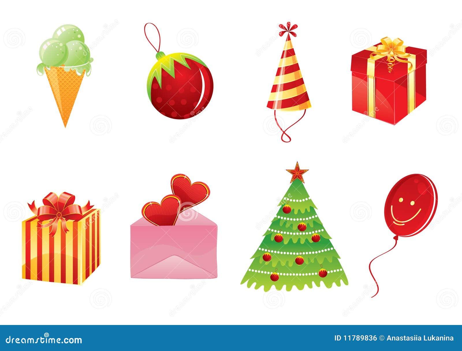 Conjunto de objetos de la navidad ilustraci n del vector imagen 11789836 - Objetos de navidad ...