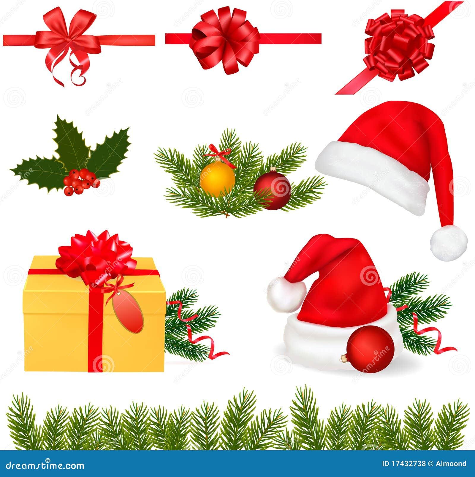 Conjunto de objetos de la navidad vector - Objetos de navidad ...