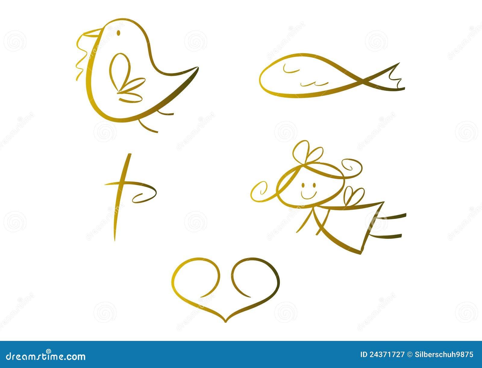 Conjunto de símbolos religiosos (para los cabritos)