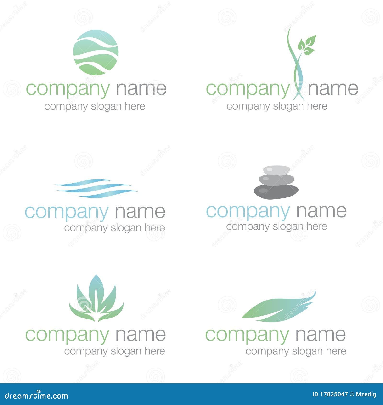 Conjunto de seis insignias del balneario y de la salud