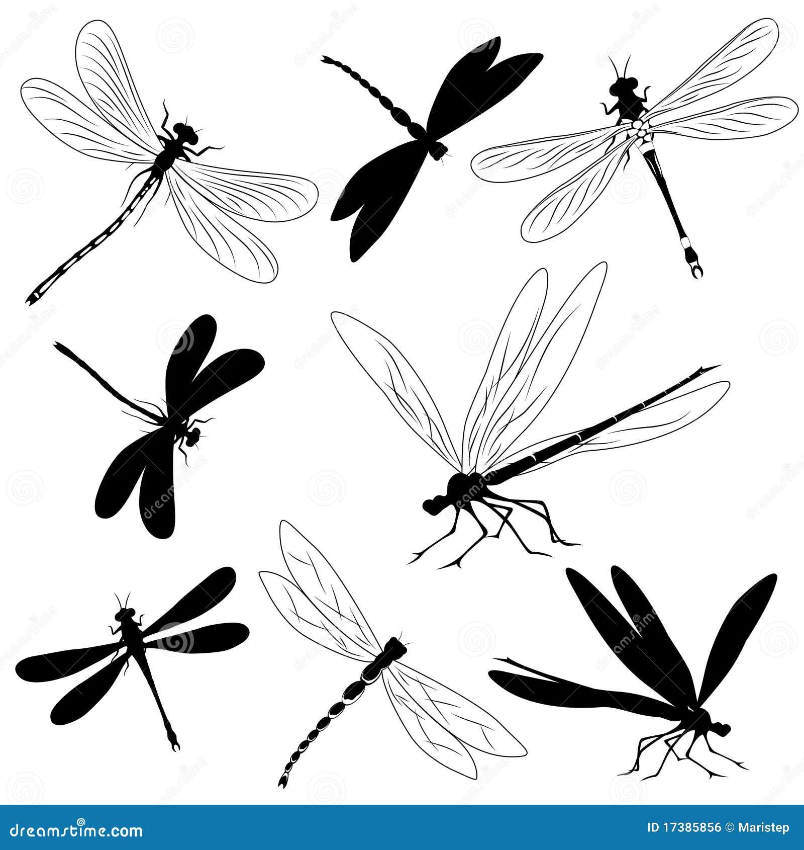 Más imágenes similares de ` Conjunto de siluetas de libélulas ...