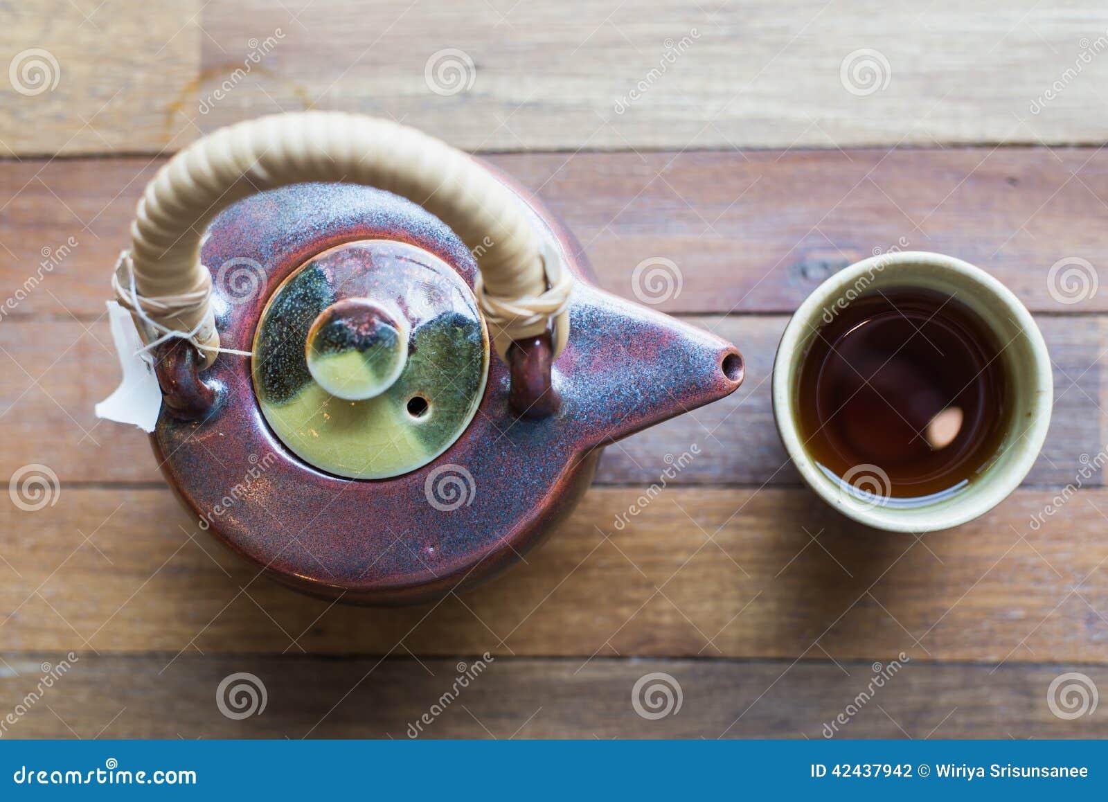 Conjunto de té asiático