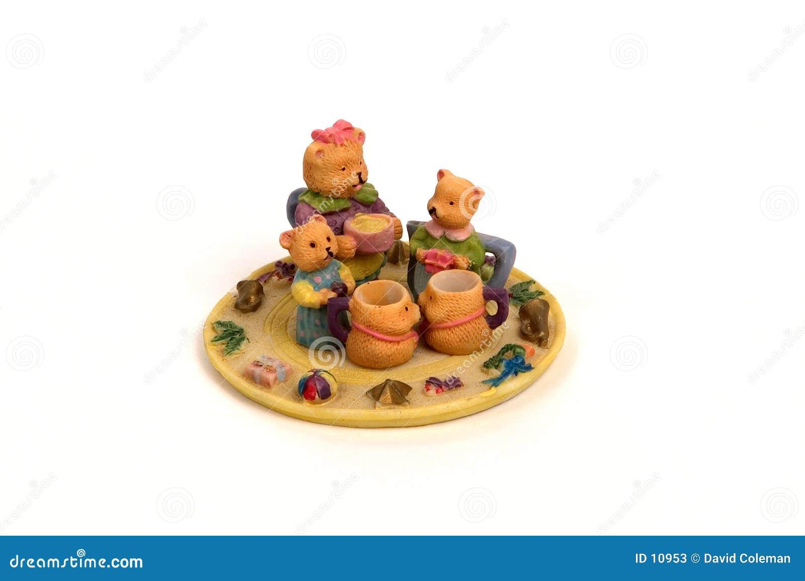 Conjunto de té del oso del peluche