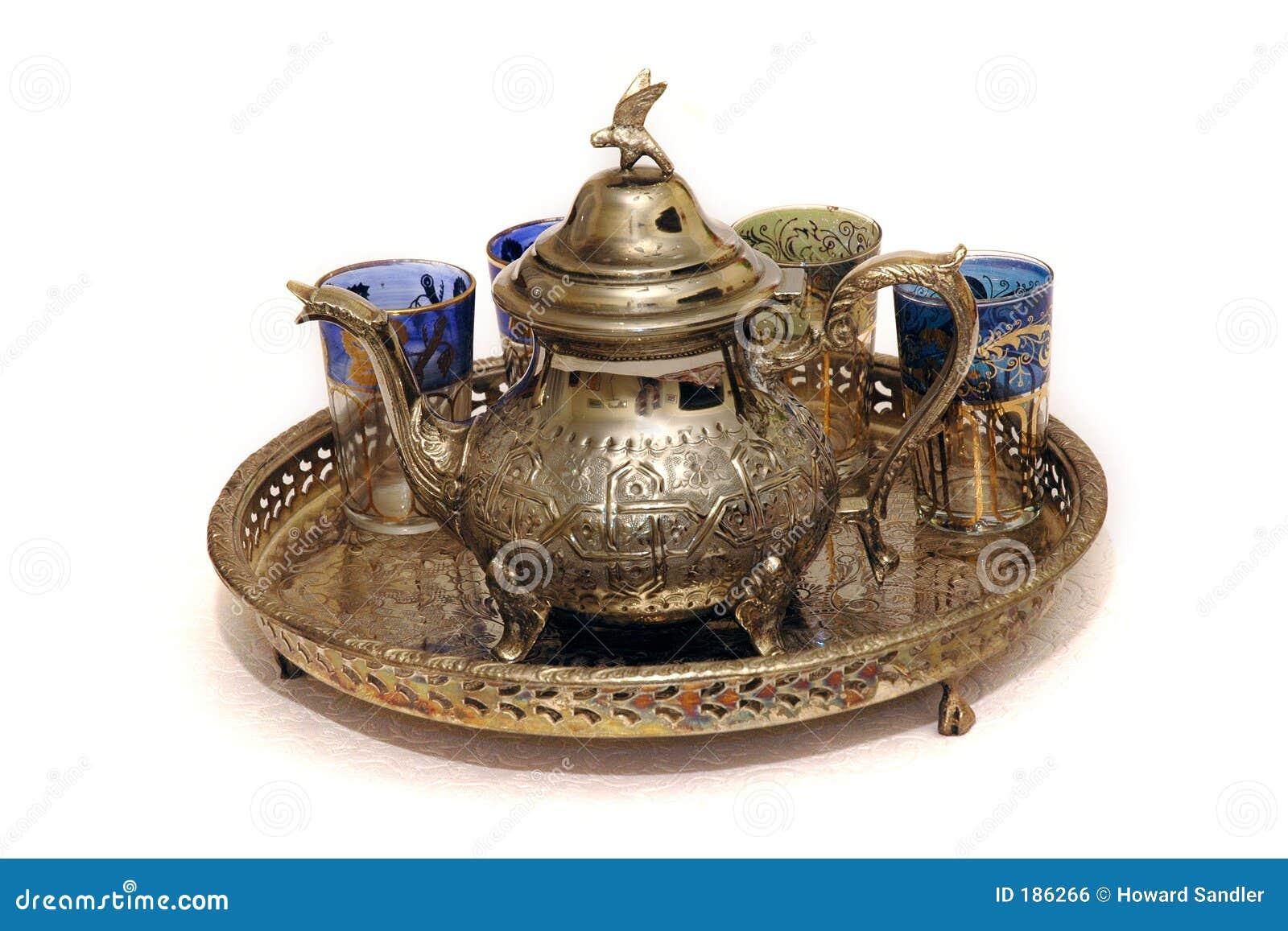 Conjunto de té marroquí de la menta