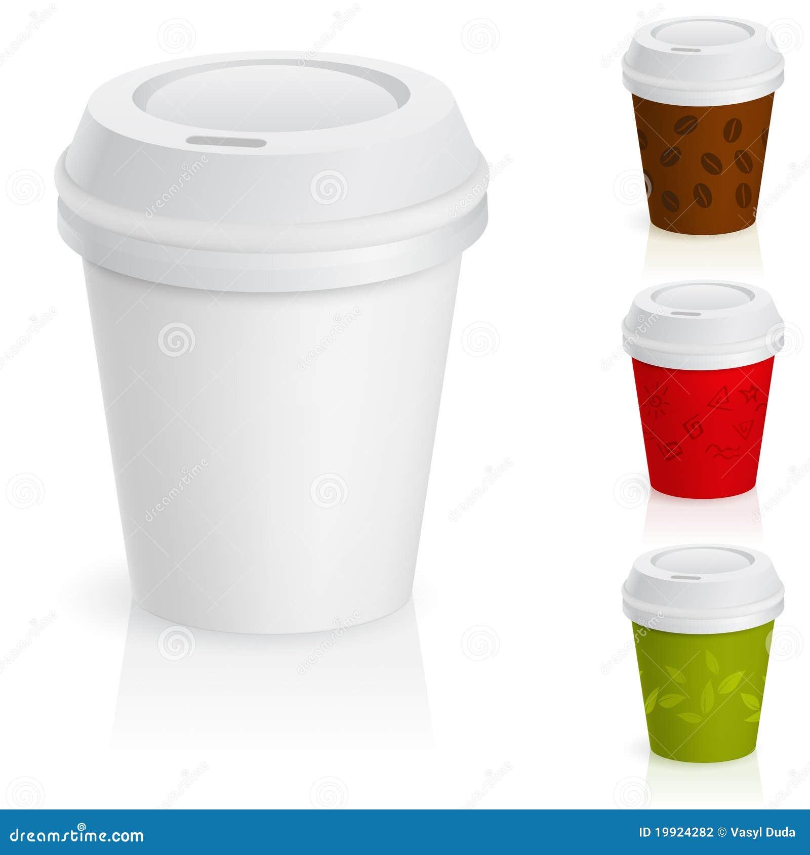 Conjunto de tazas de caf para llevar ilustraci n del for Cafe para llevar