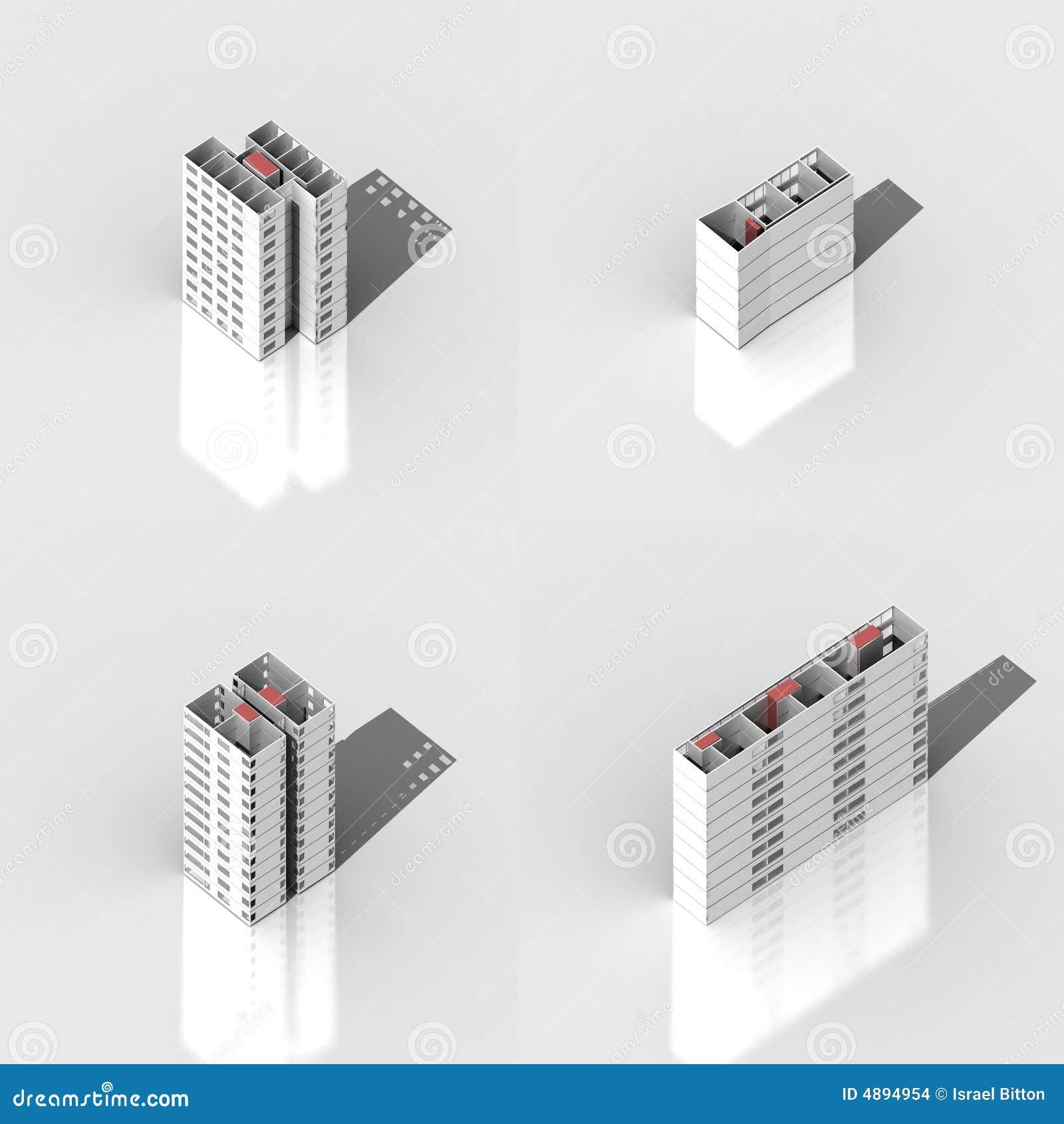 Conjunto del edificio 3D