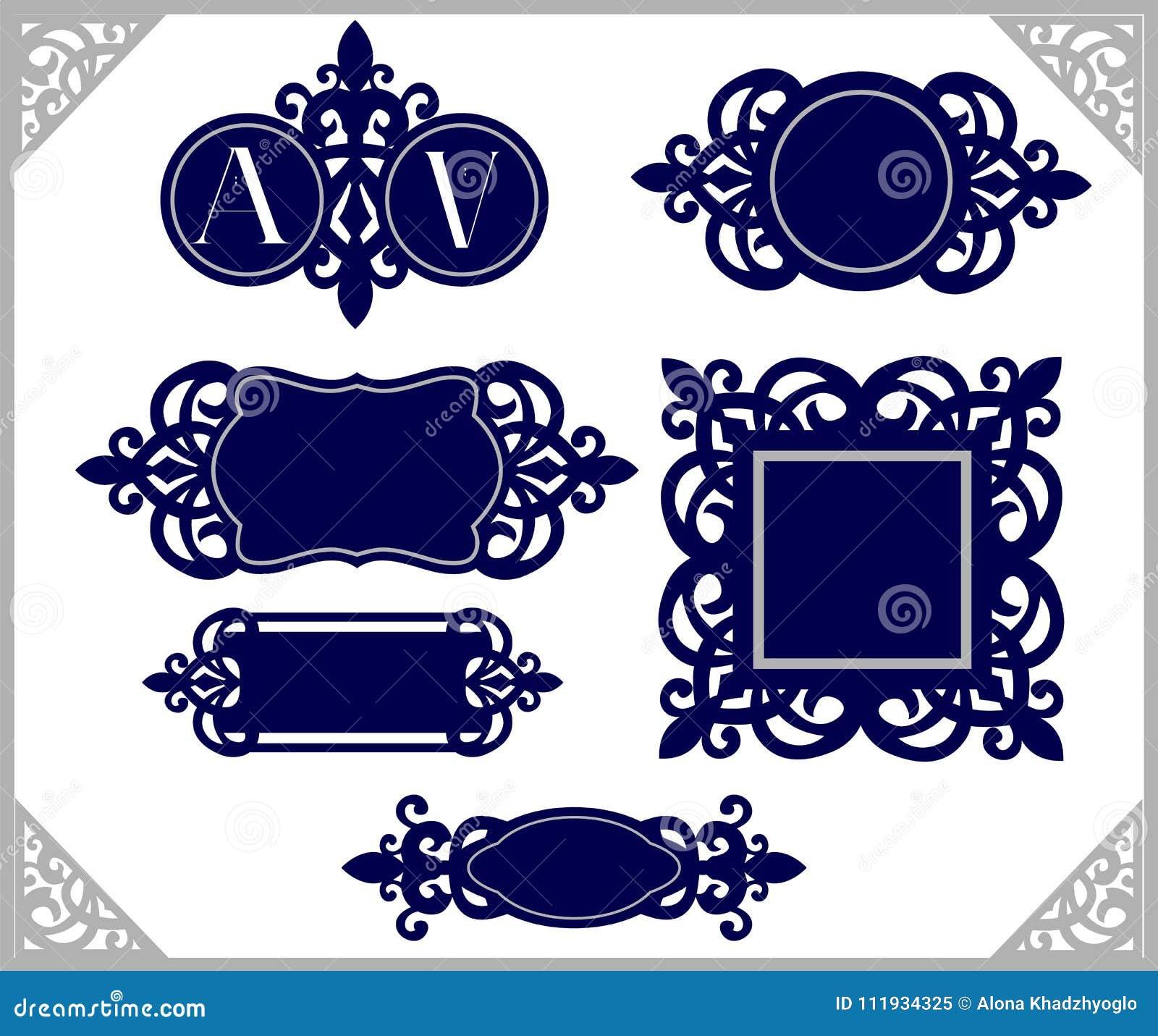 Conjunto Del Elemento Del Diseño Emblema De La Vendimia Plantilla ...