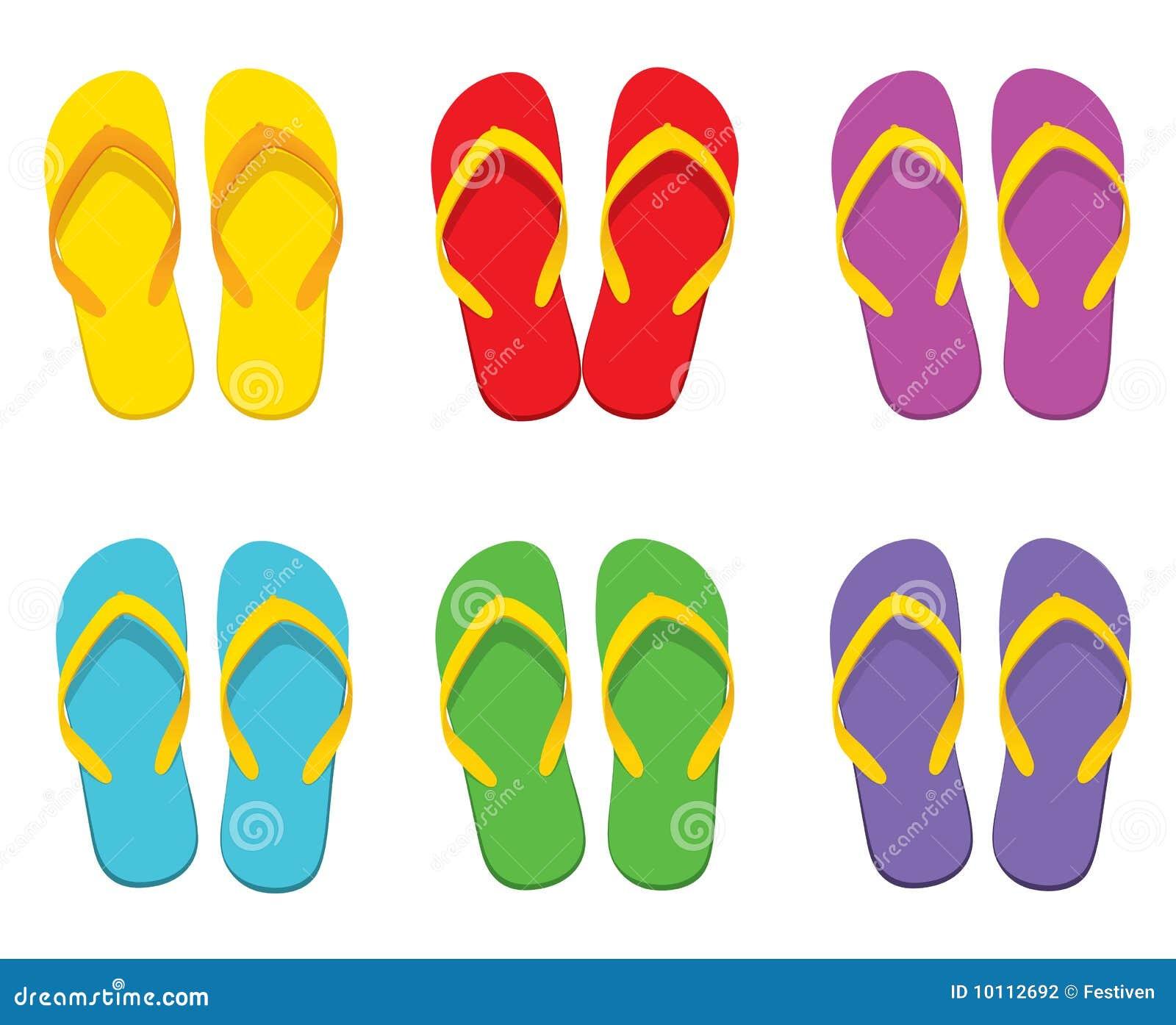 Conjunto del flip-flop ilustración del vector. Ilustración de multi ...