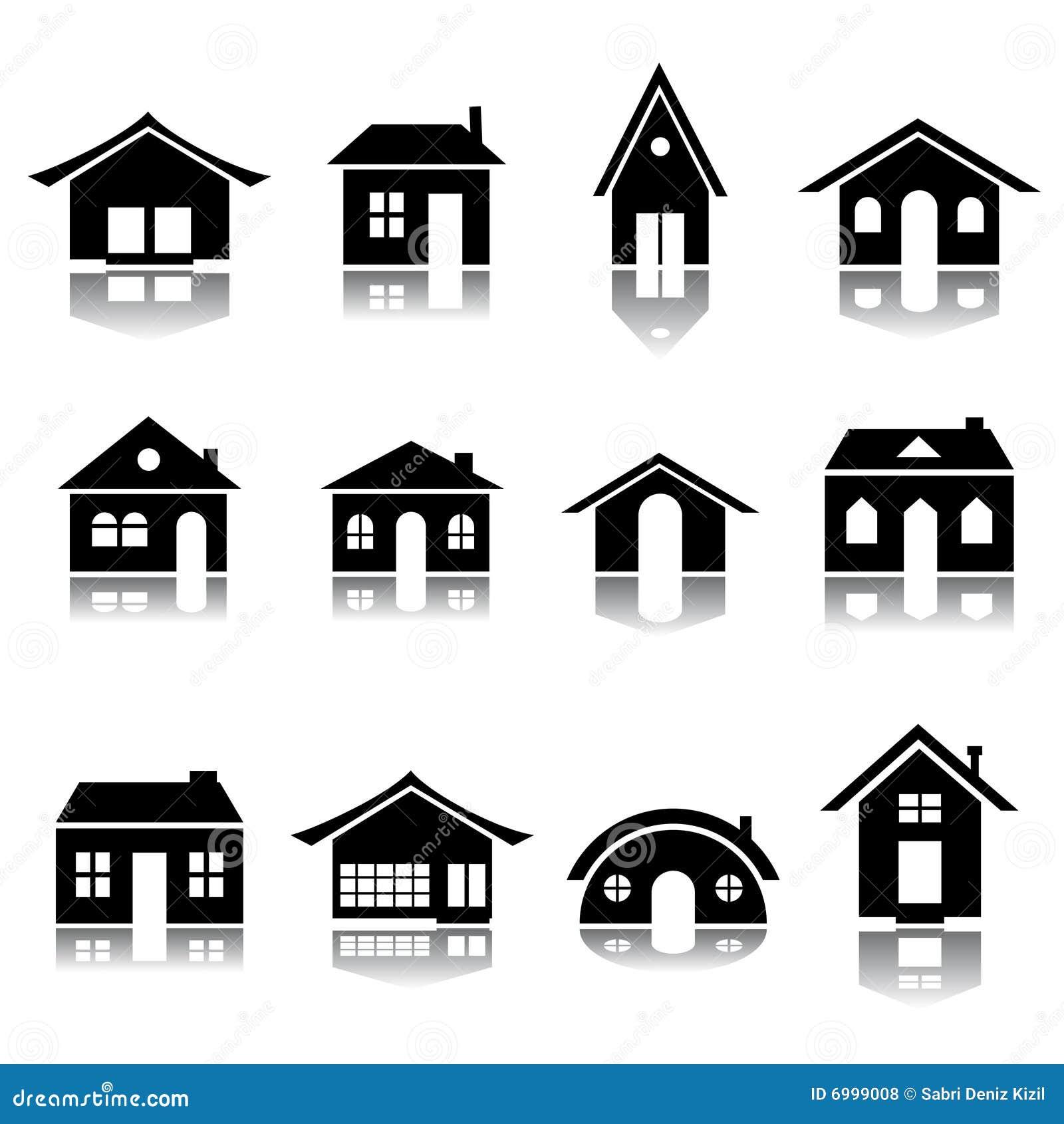 Conjunto del icono de la casa