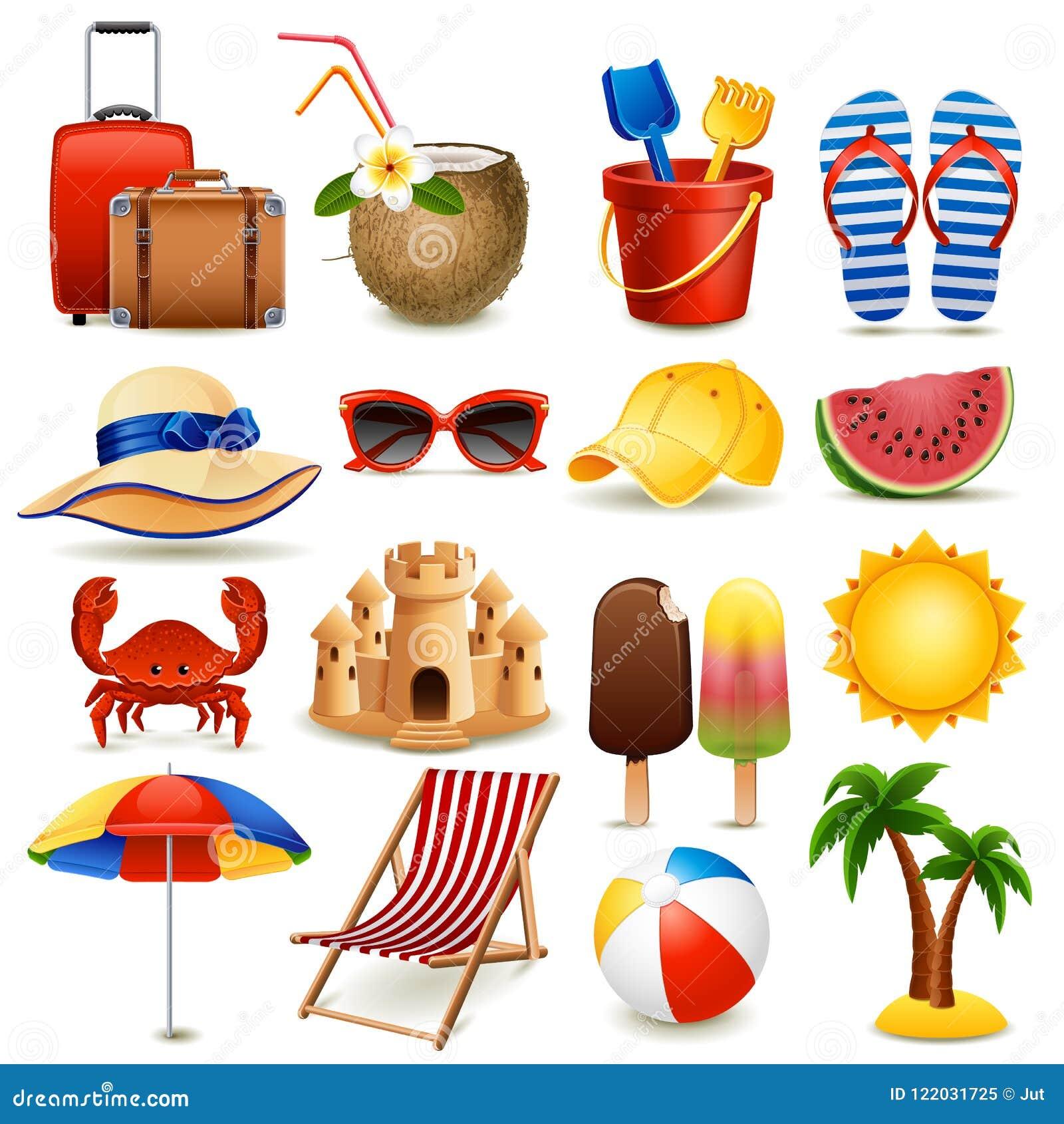 Conjunto del icono de la playa