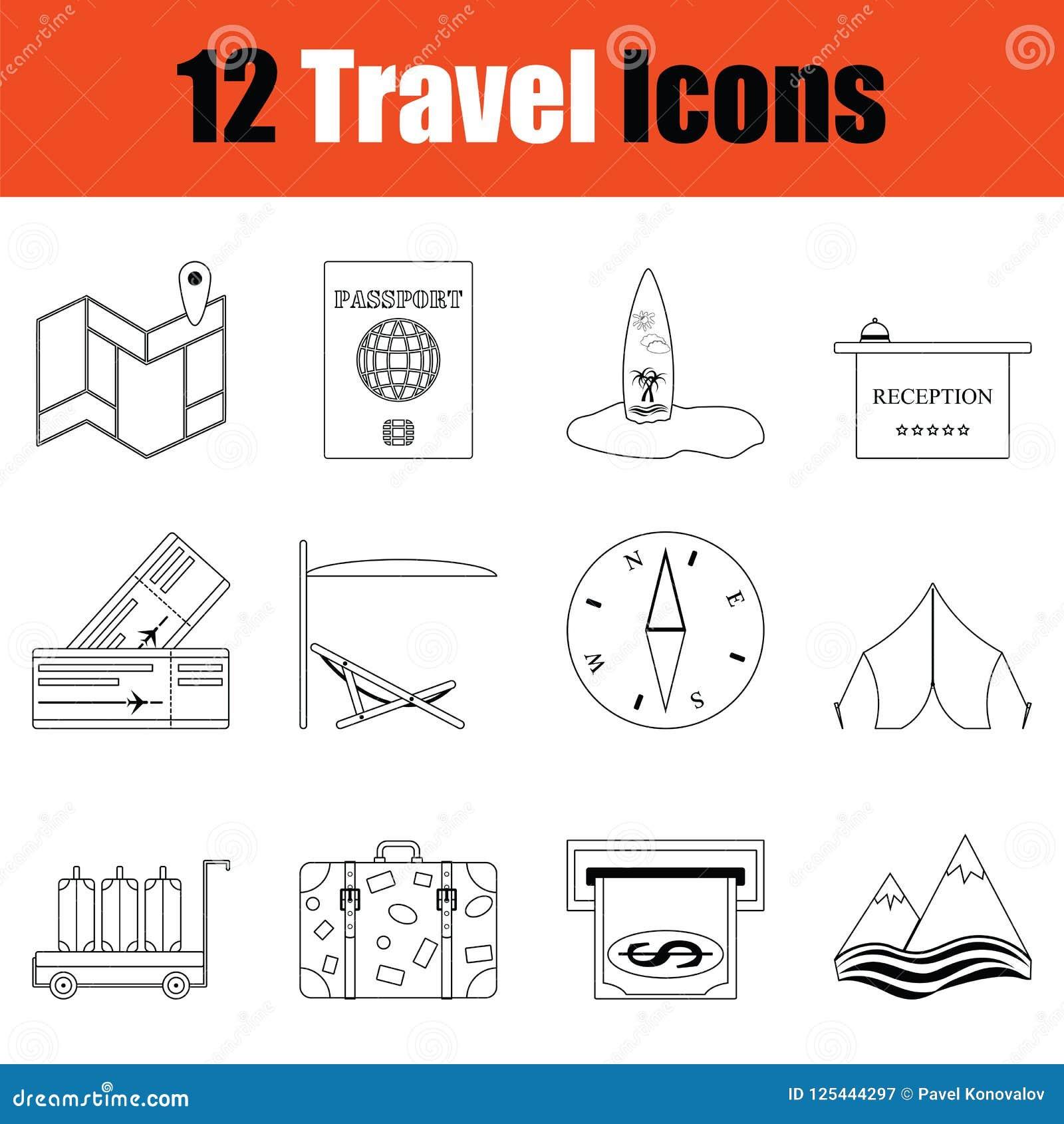 Conjunto del icono del recorrido