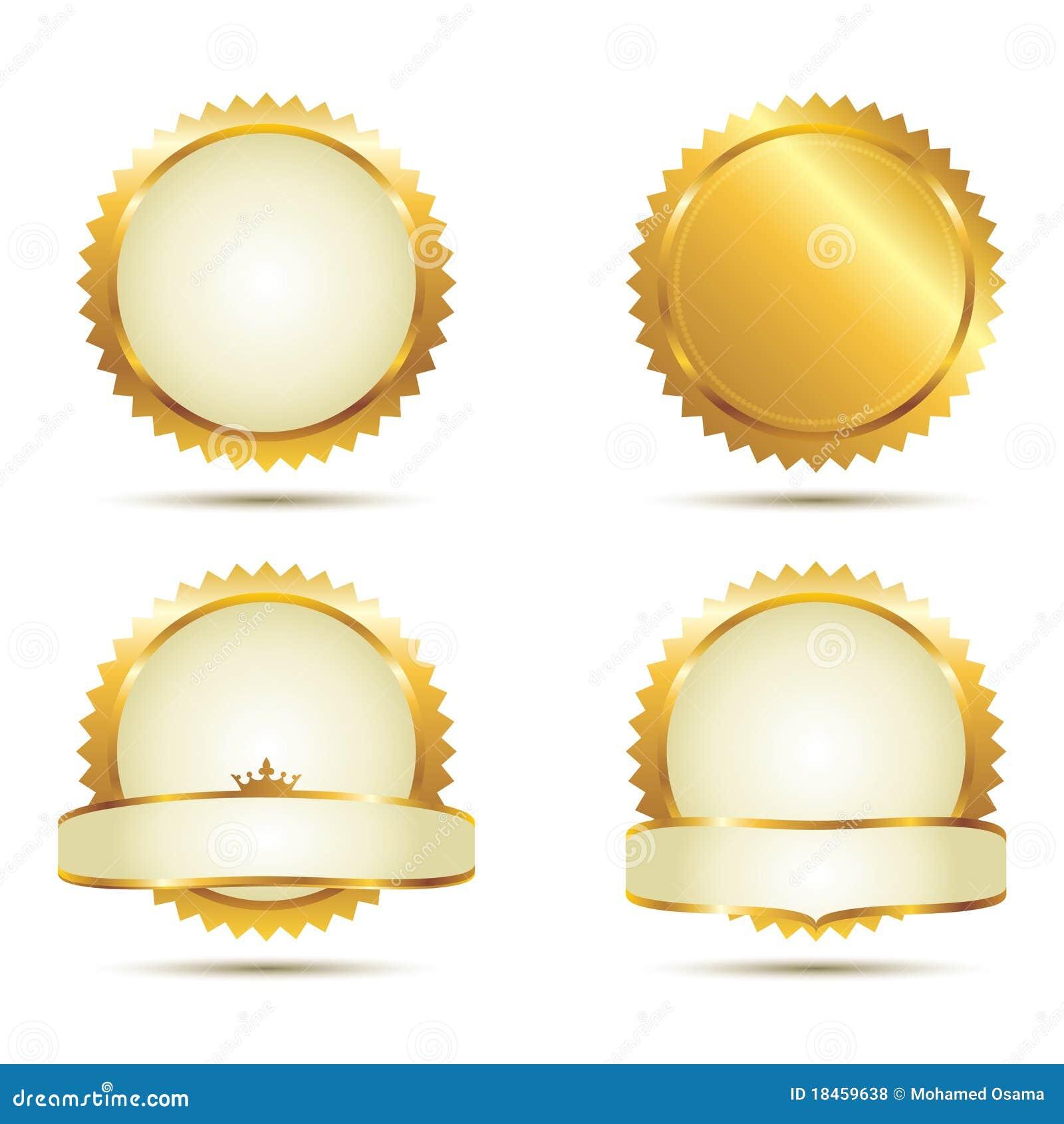 Conjunto del sello del oro