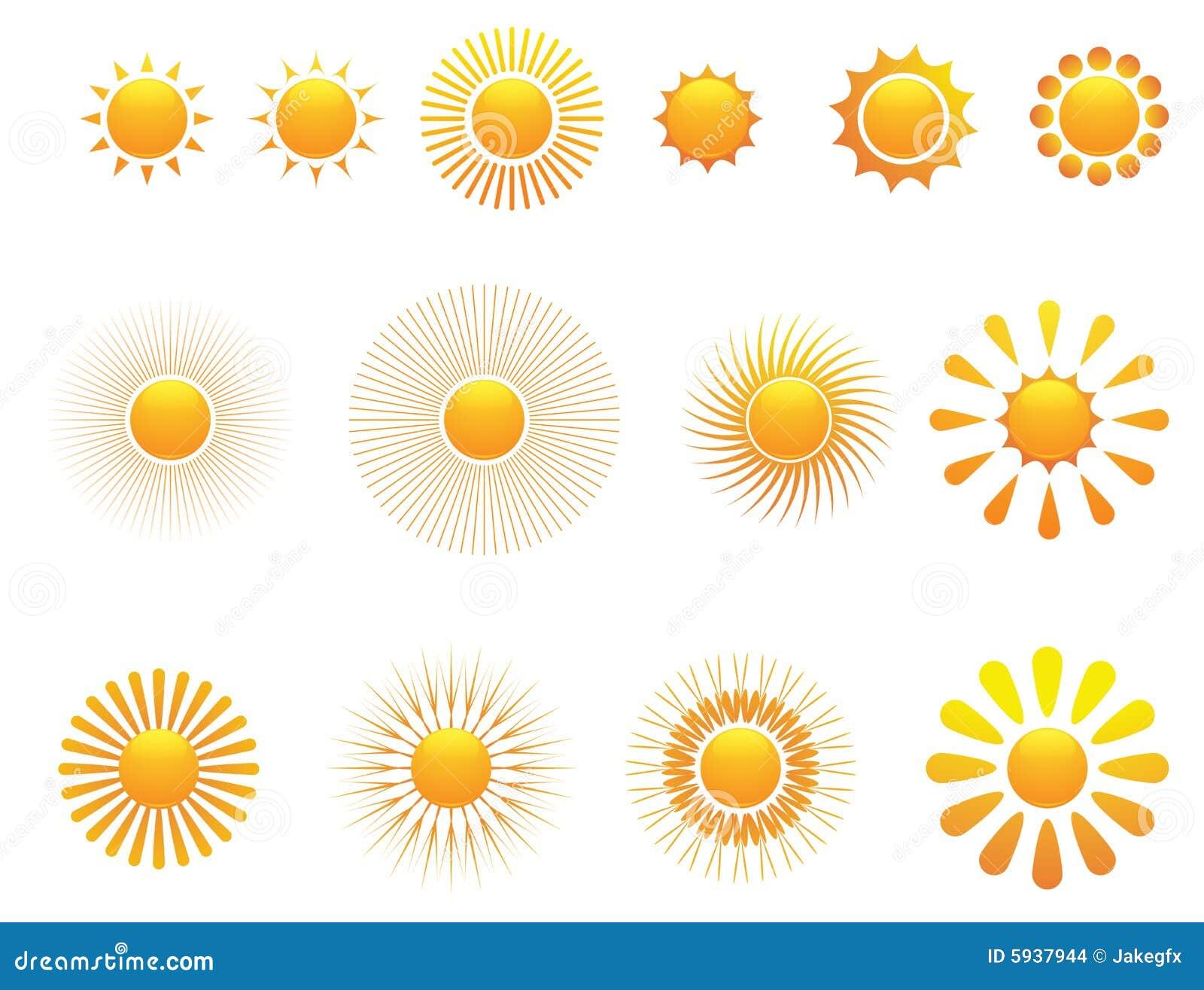 conjunto del sol vector imagenes de archivo imagen 5937944. Black Bedroom Furniture Sets. Home Design Ideas