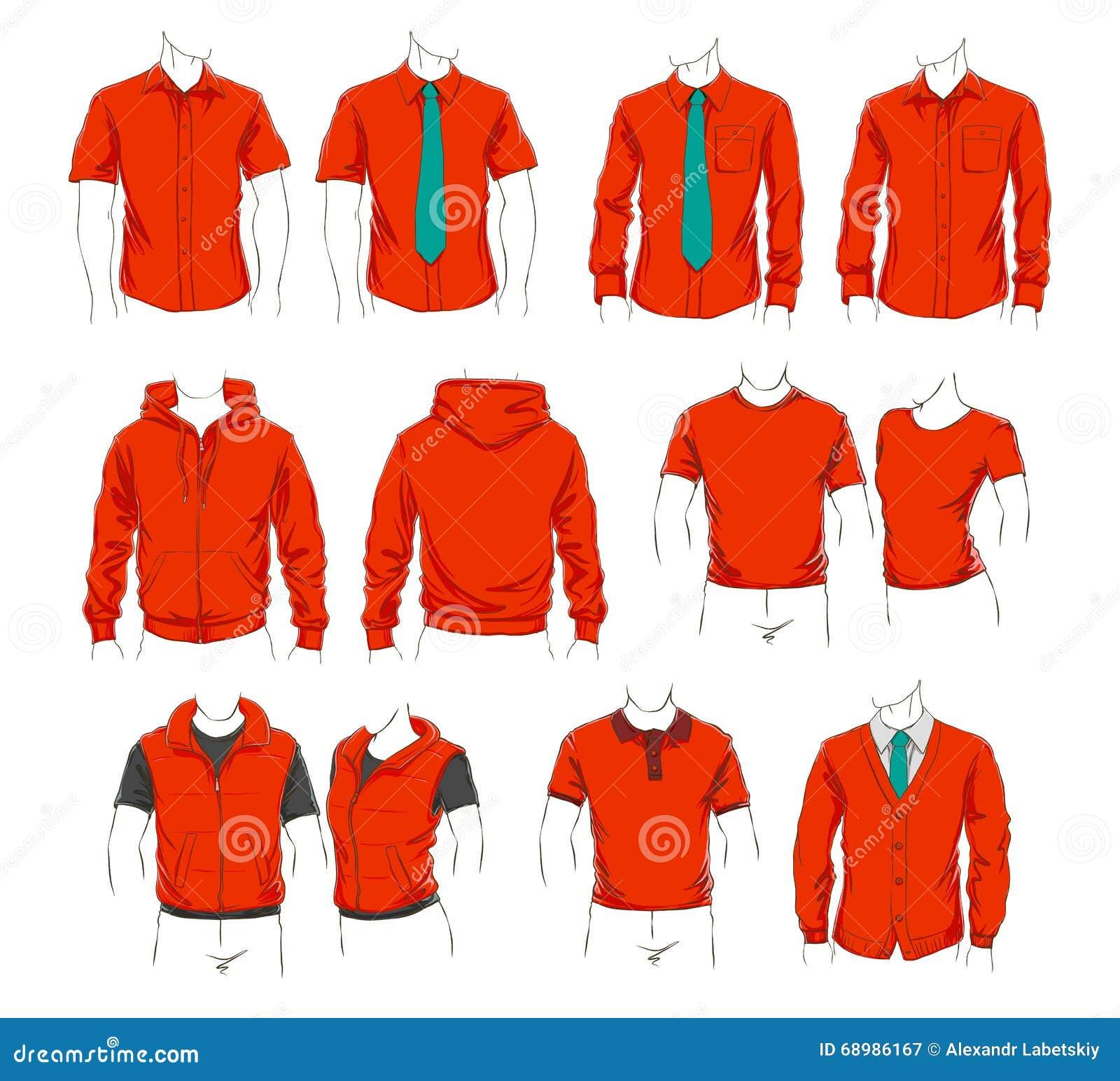 Conjunto del vector de ropa