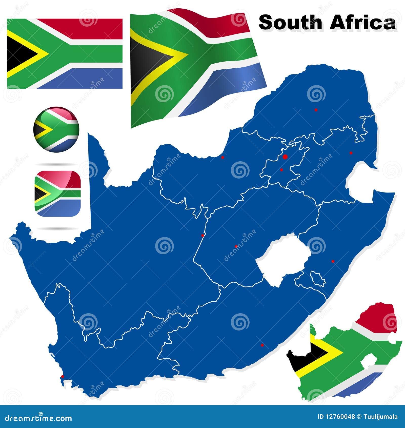 Conjunto del vector de Suráfrica.