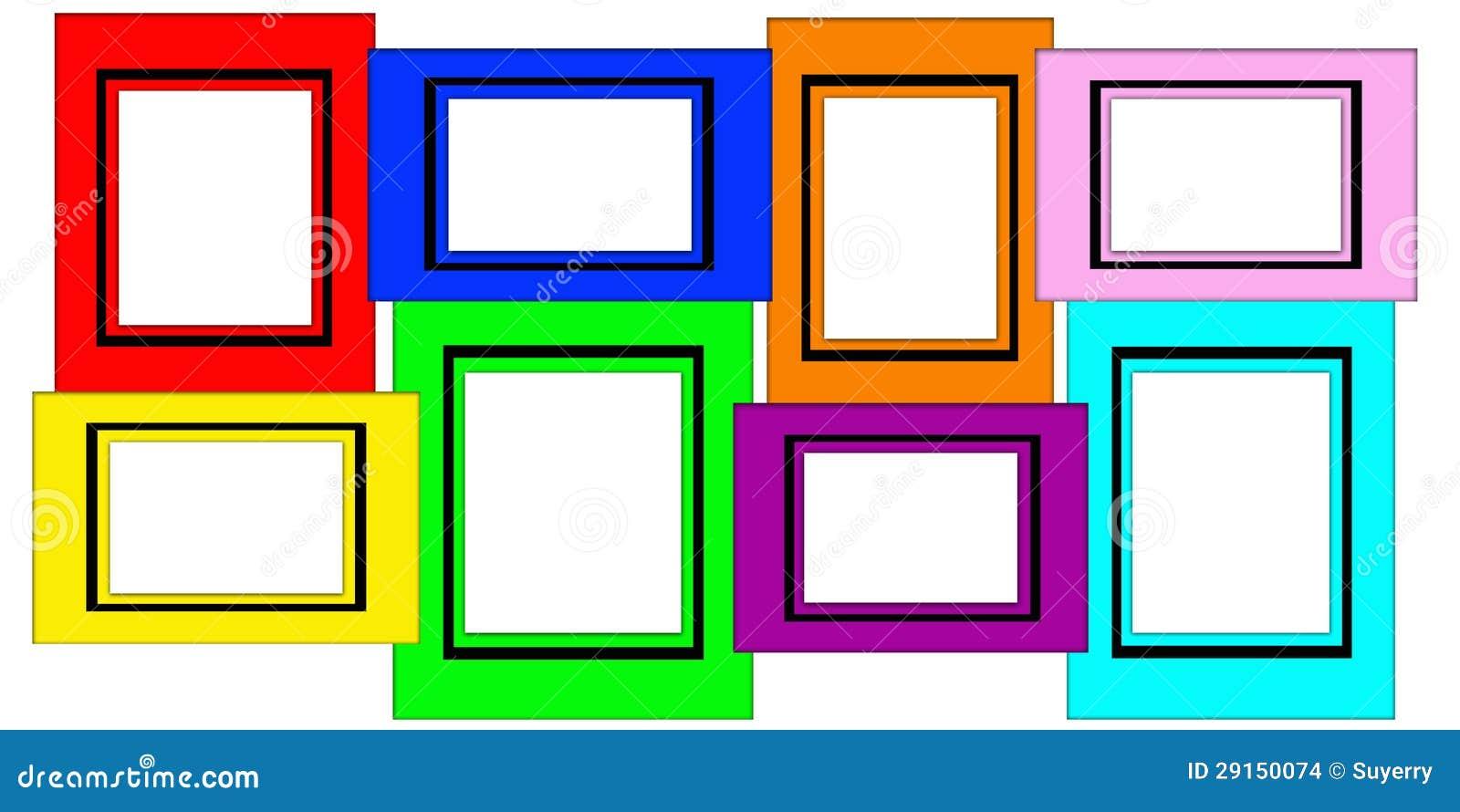 Conjunto En Blanco Múltiple Colorido Del Marco Foto de archivo ...