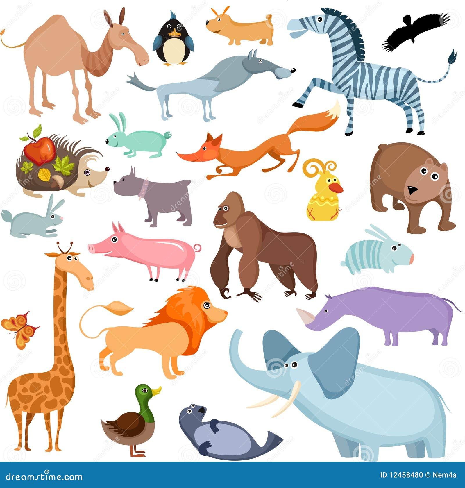 Conjunto grande del animal