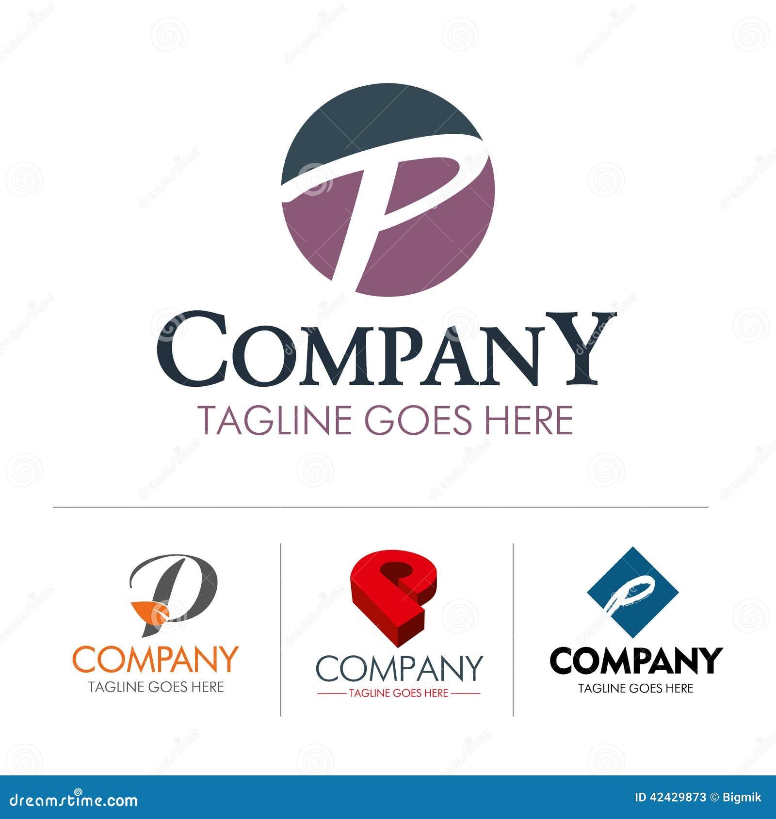 Conjunto P de la letra del logotipo
