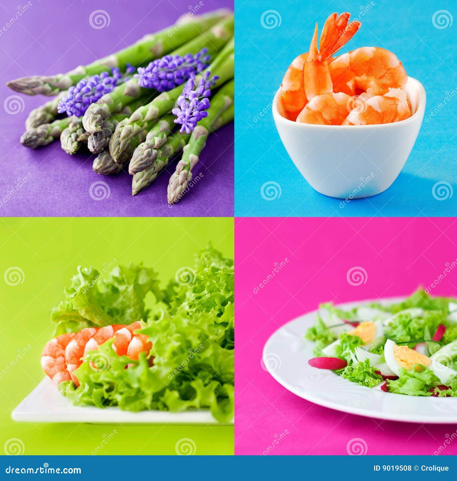 Conjunto sano fresco del alimento