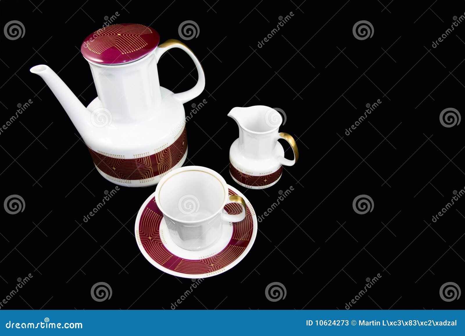 Conjunto tradicional de la porcelana del té