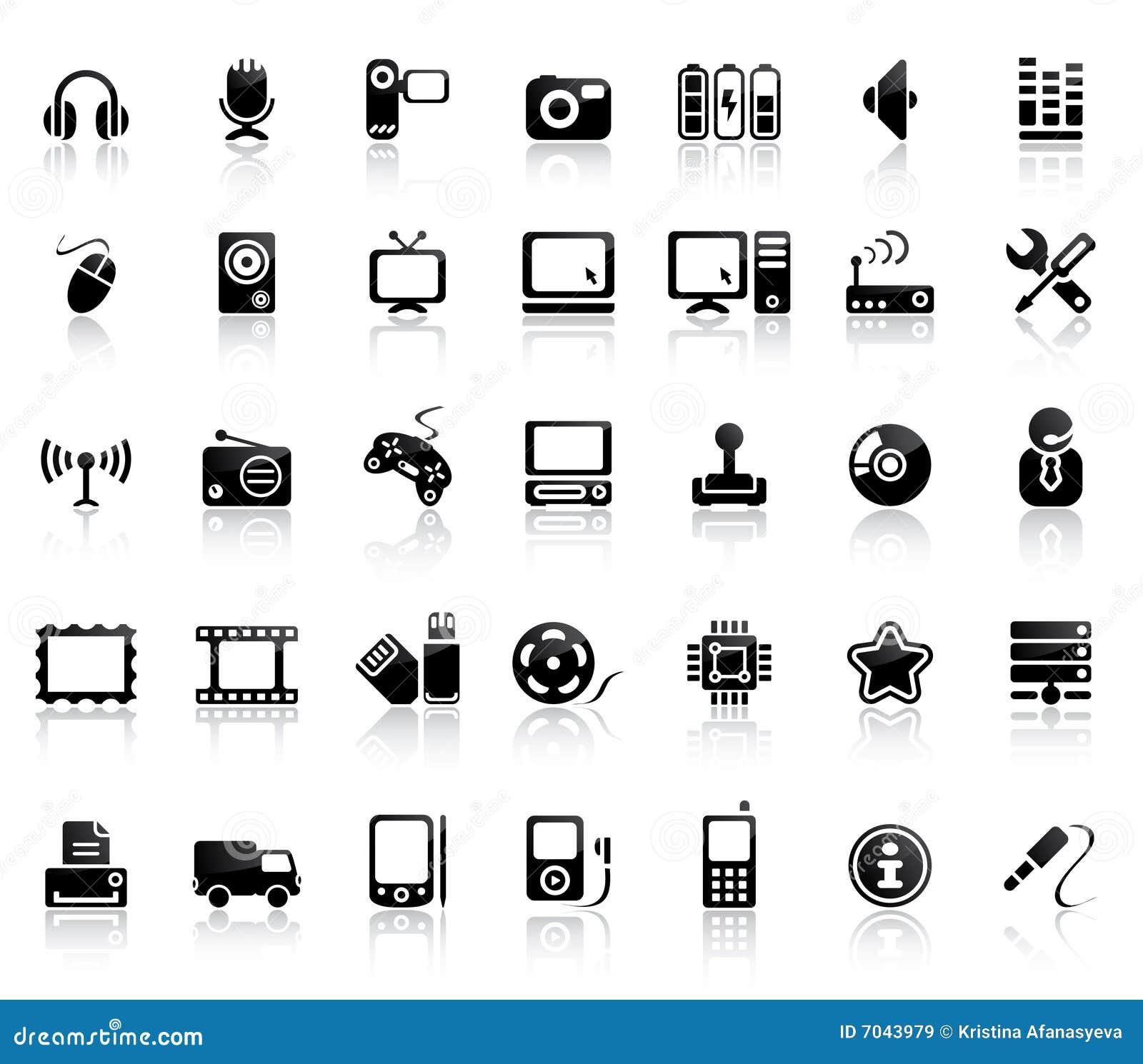 Conjunto video y audio del icono