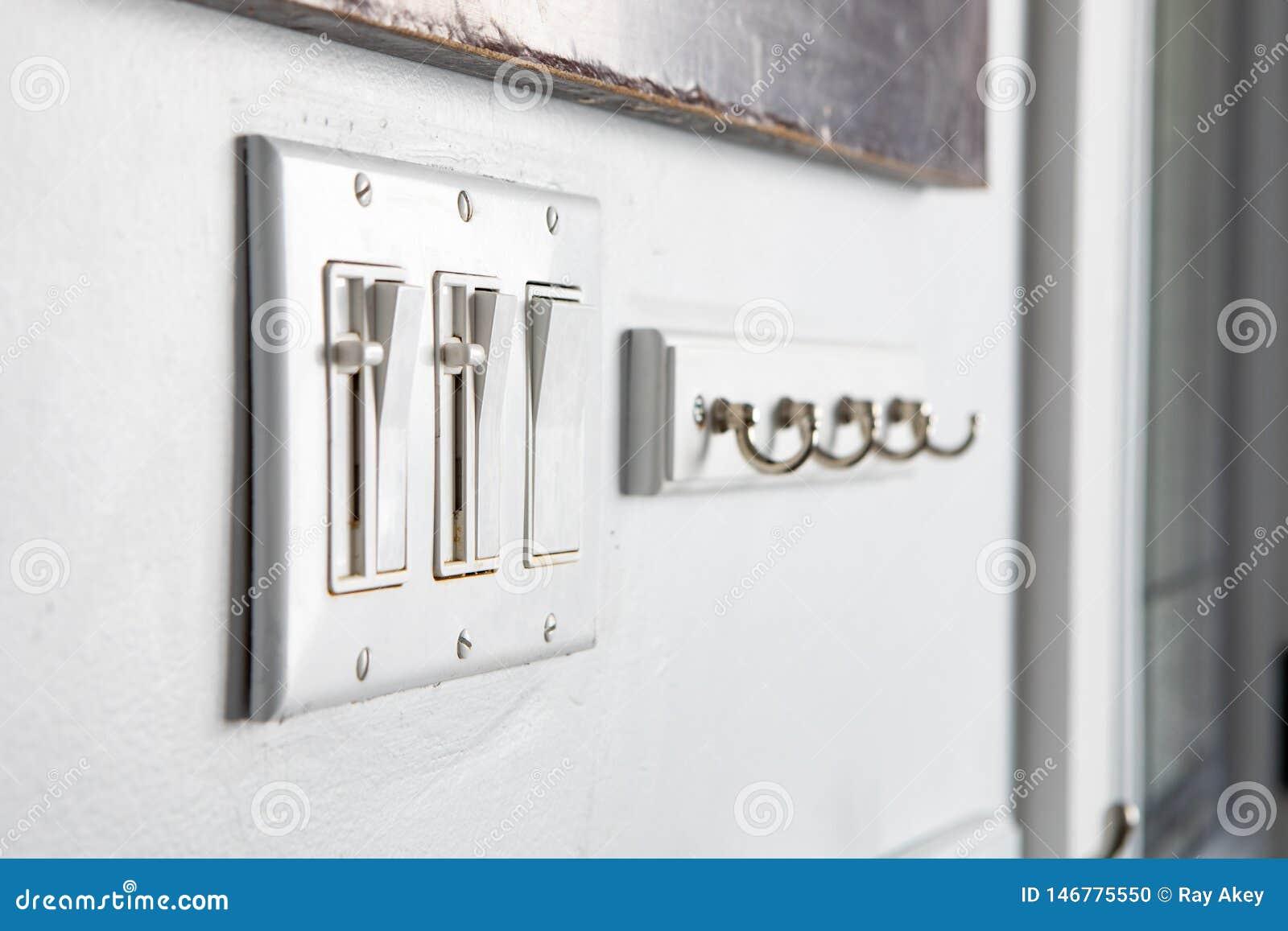 Conmutadores diversos del botón del poder del hogar de los artículos que cuelgan el sistema de la combinación de los ganchos
