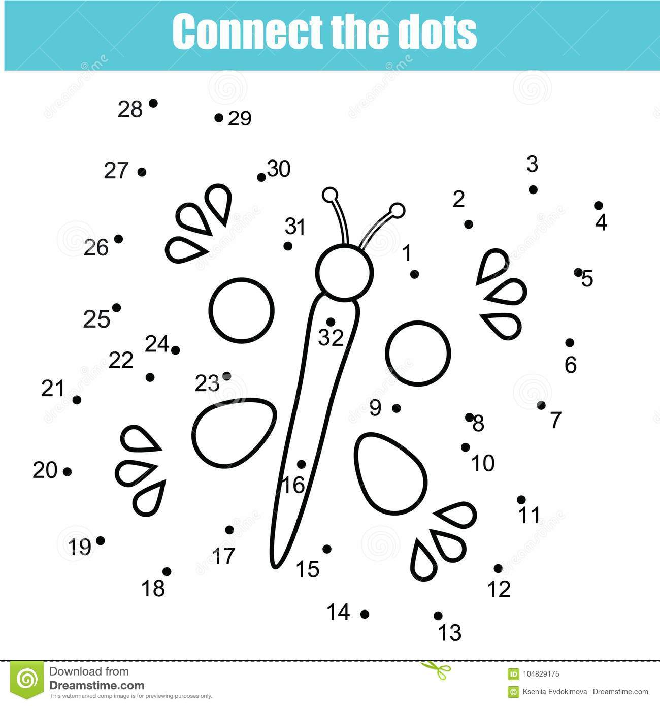 picture regarding Connect the Dots Game Printable known as Converse The Dots Through Quantities Kids Useful Activity