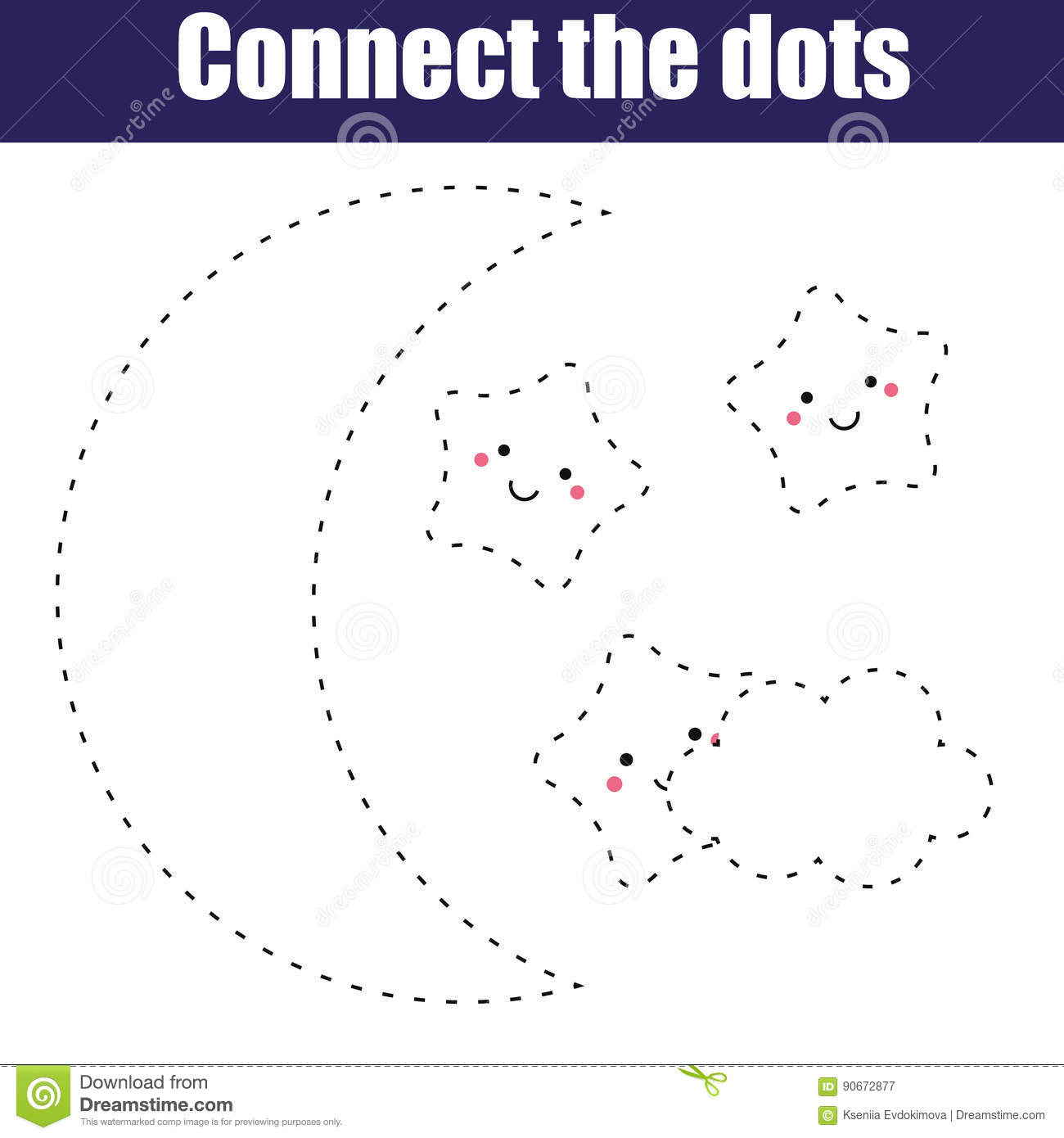 image about Connect the Dots Game Printable titled Communicate The Dots Kids Informative Match. Printable