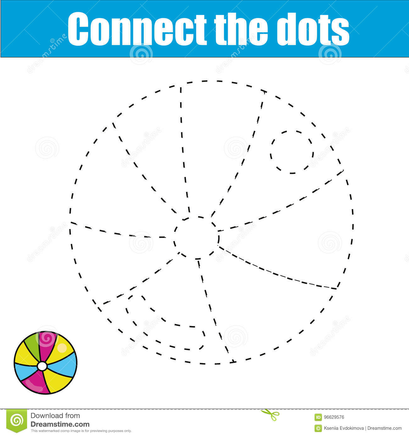 Connect The Dots Children Educational Game Printable Worksheet