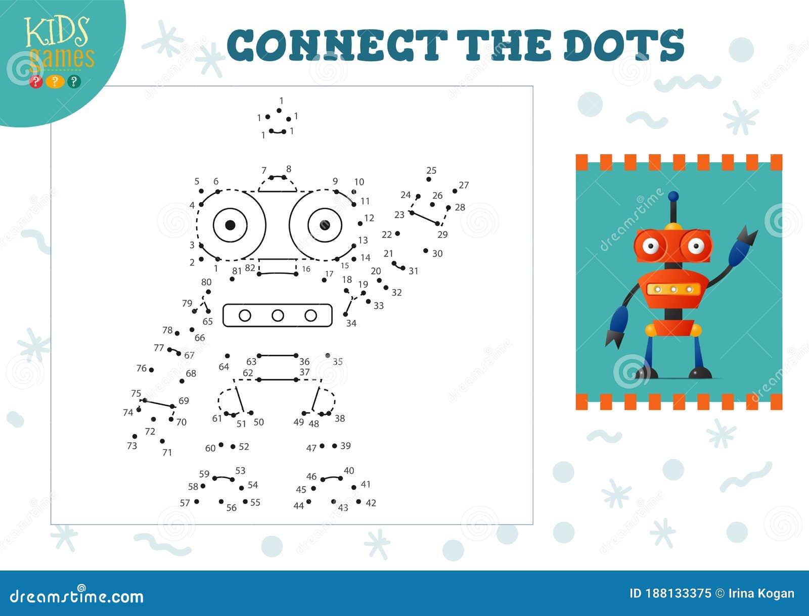 Connect The Dots Kids Game Vector Illustration Kindergarten Children Educational Activity Stock Vector Illustration Of Dottodot Educational 188133375 - View Connect The Dots Worksheets For Kindergarten Gif