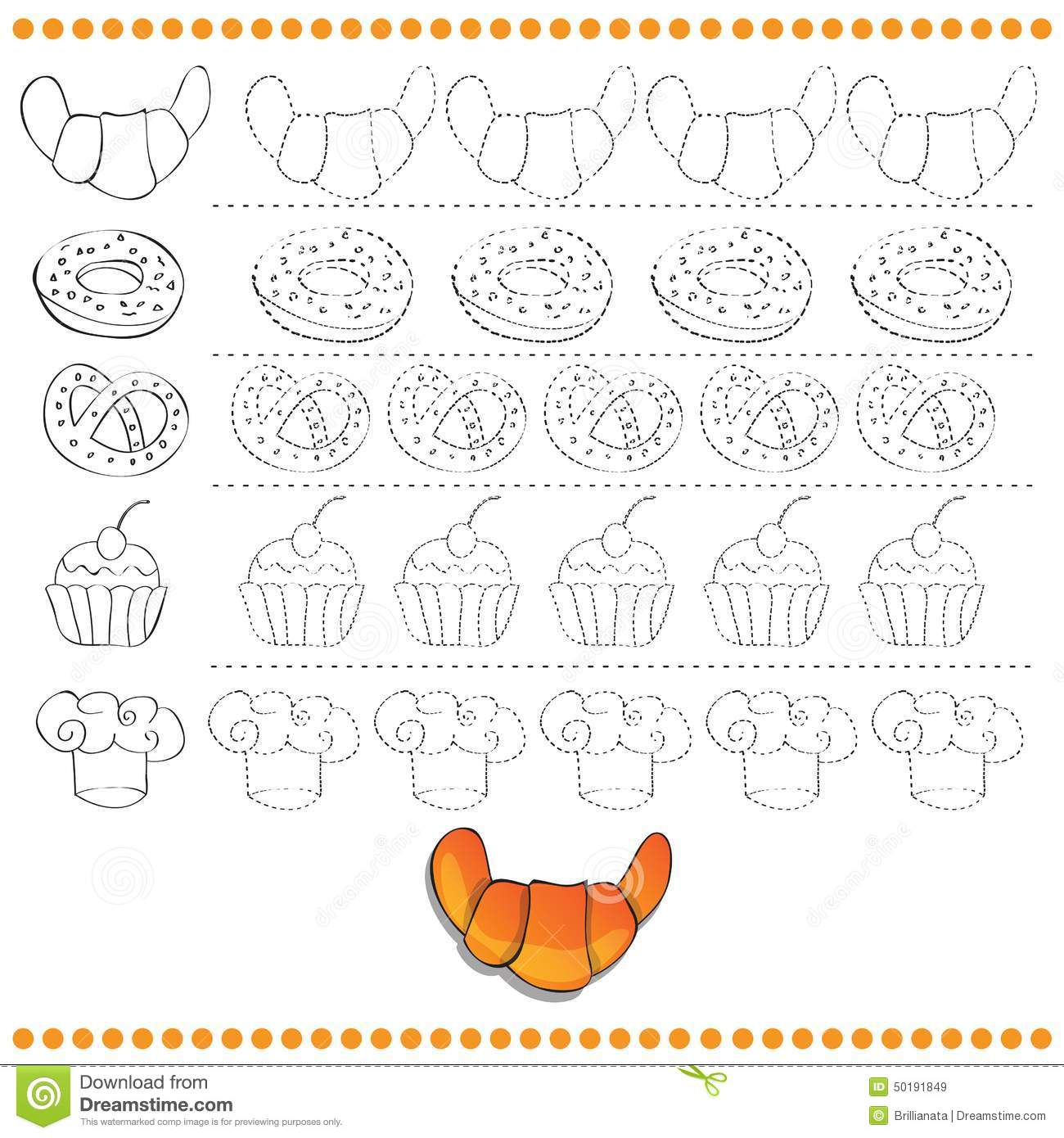 connect the dots number of images exercise for stock vector