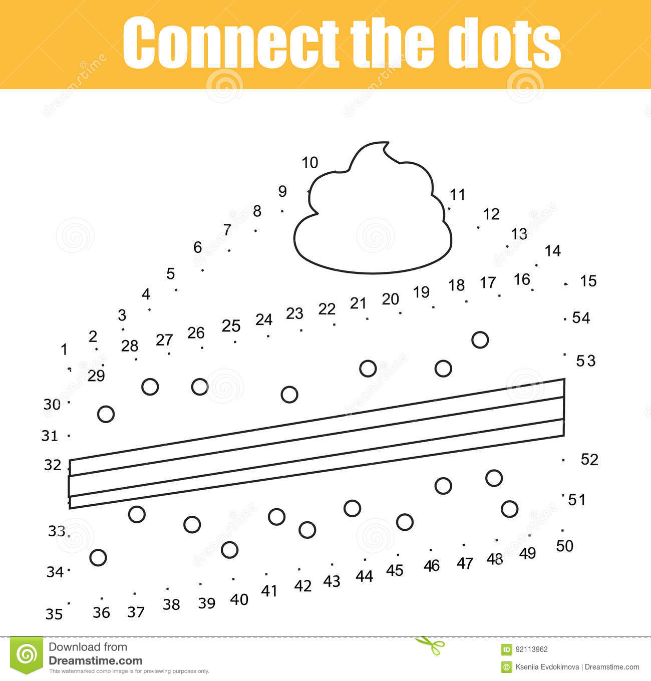 graphic relating to Connect the Dots Game Printable called Talk The Dots By means of Figures Small children Insightful Recreation