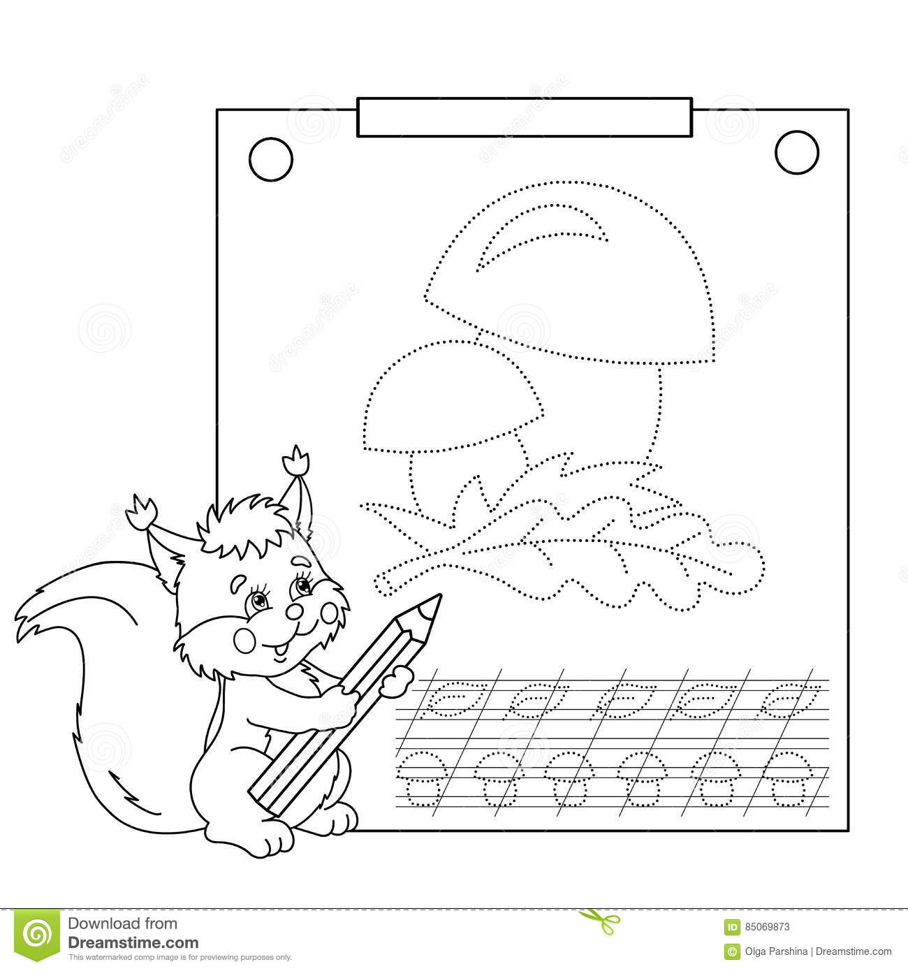 Connect The Dots Picture And Coloring Page. Tracing Worksheet ...