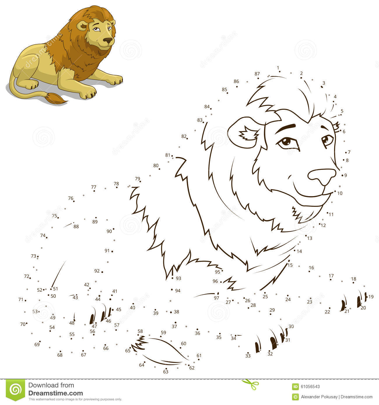 connect the dots lion royalty free stock images image 17693509