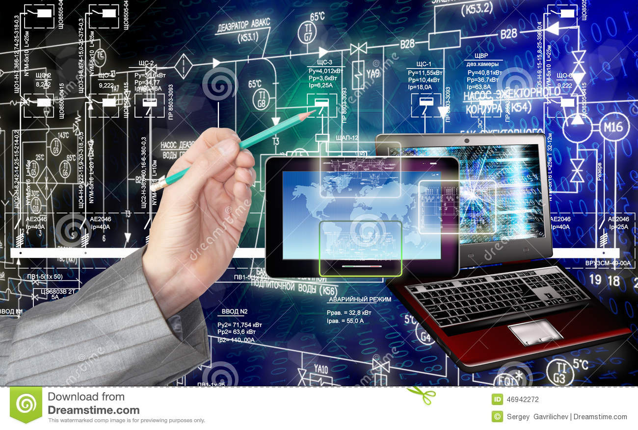 connect generation new computer technology communication stock photo