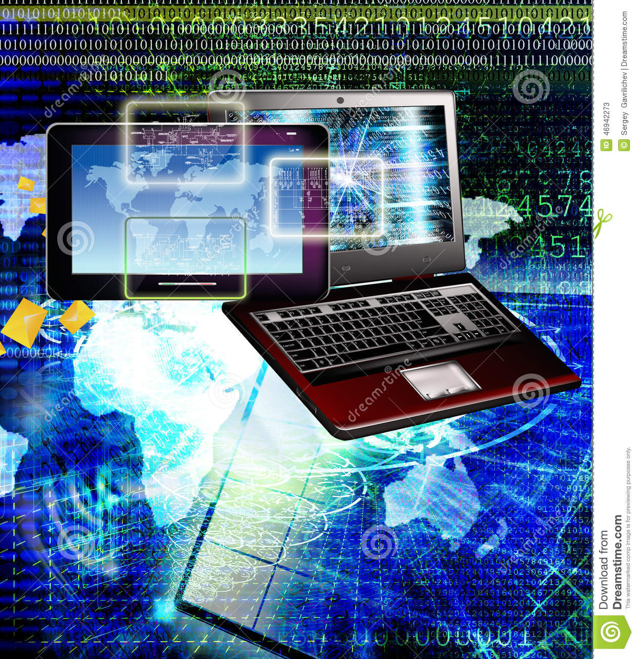 connect generation new computer technology connection  stock image