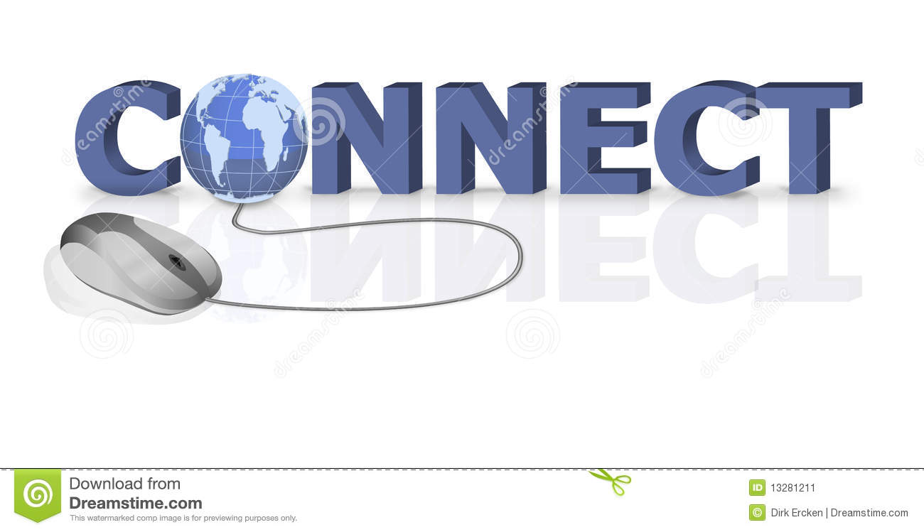Connect Internet Connection Online Website Stock Image - Image ...