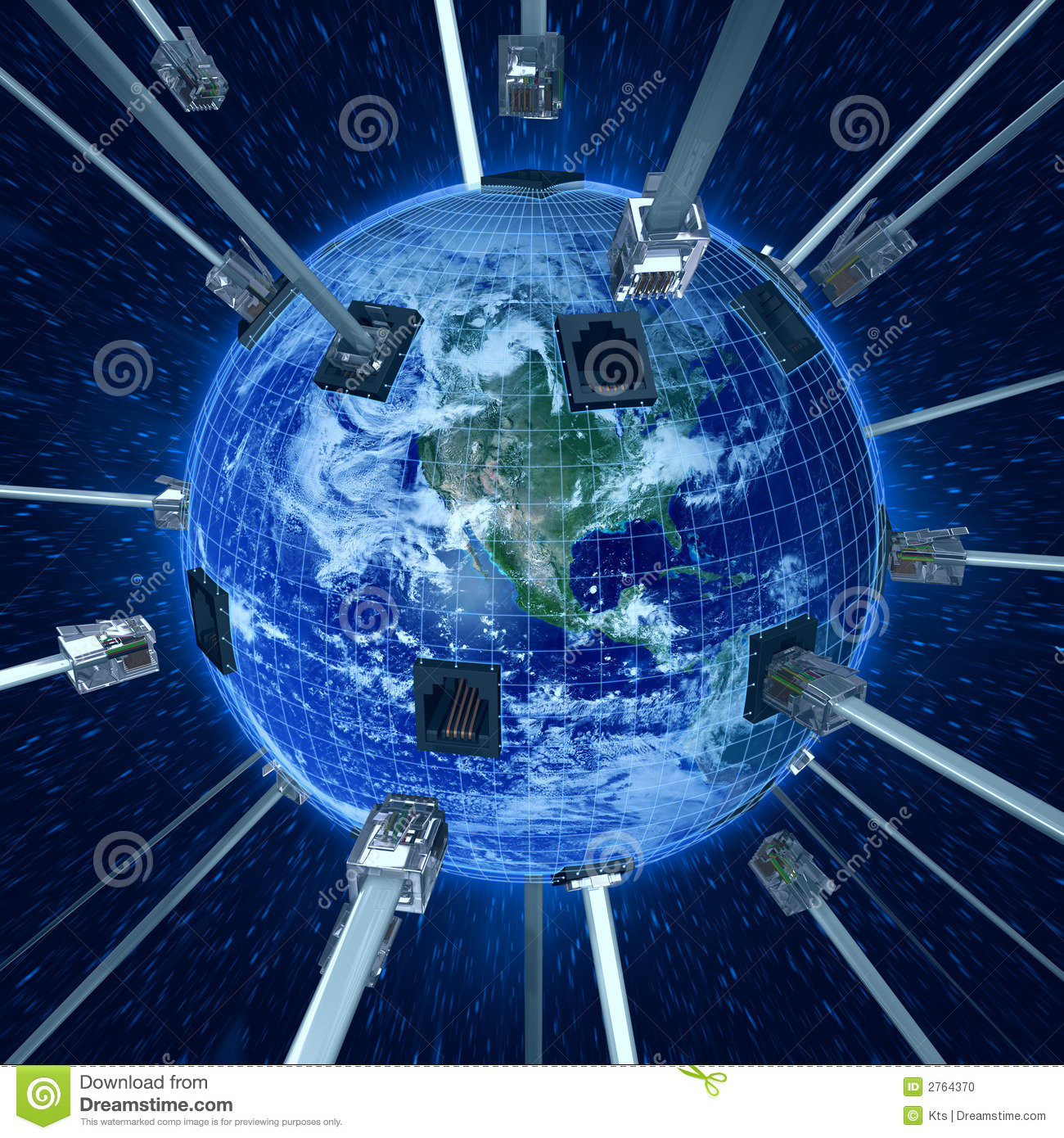 Connect Planet Earth Stock Illustration Illustration Of