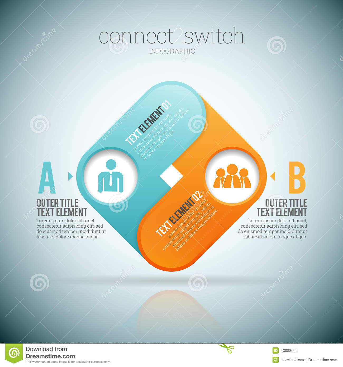 Connect 2 Switch stock vector. Illustration of chain - 43888609