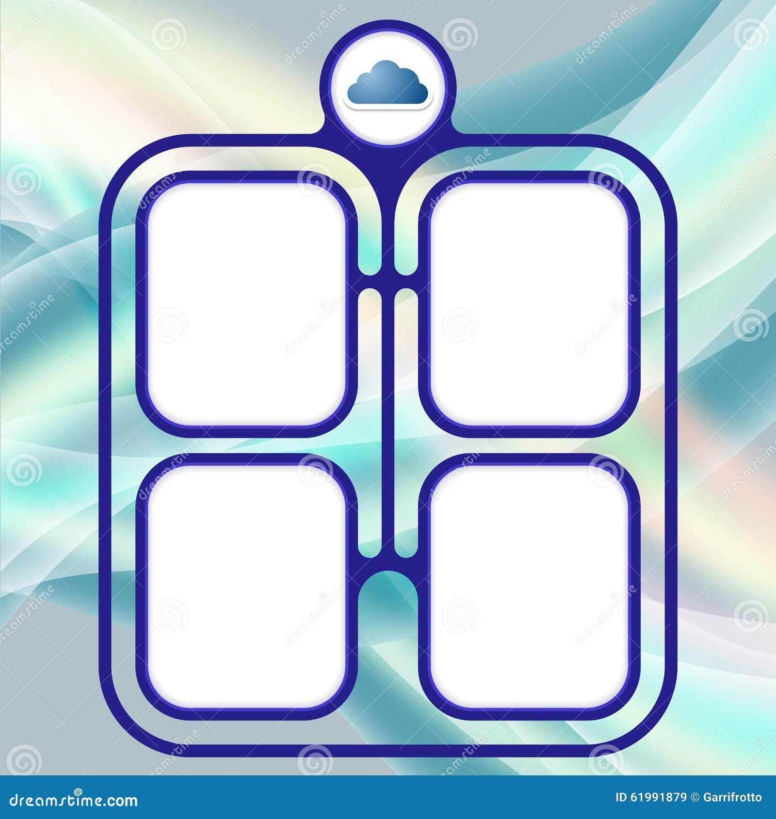 Connected frames stock illustration. Illustration of message - 61991879