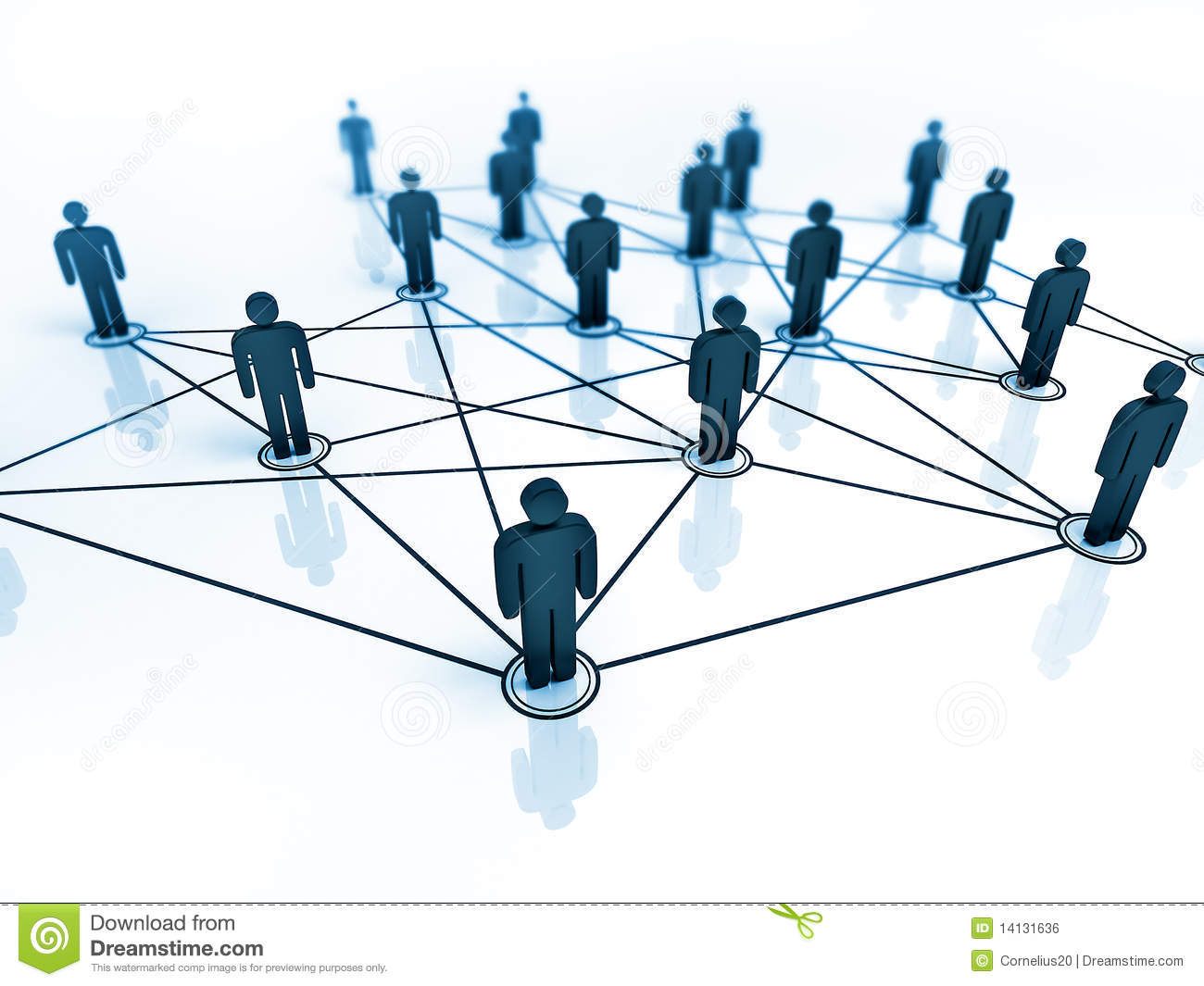 Connected People Royalty Free Stock Image - Image: 14131636