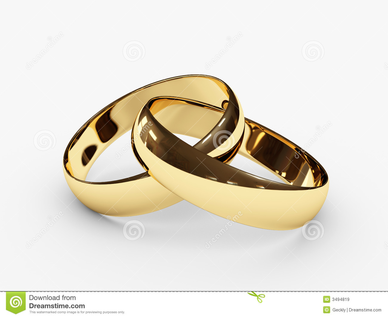 Connected wedding rings stock illustration Illustration of shine